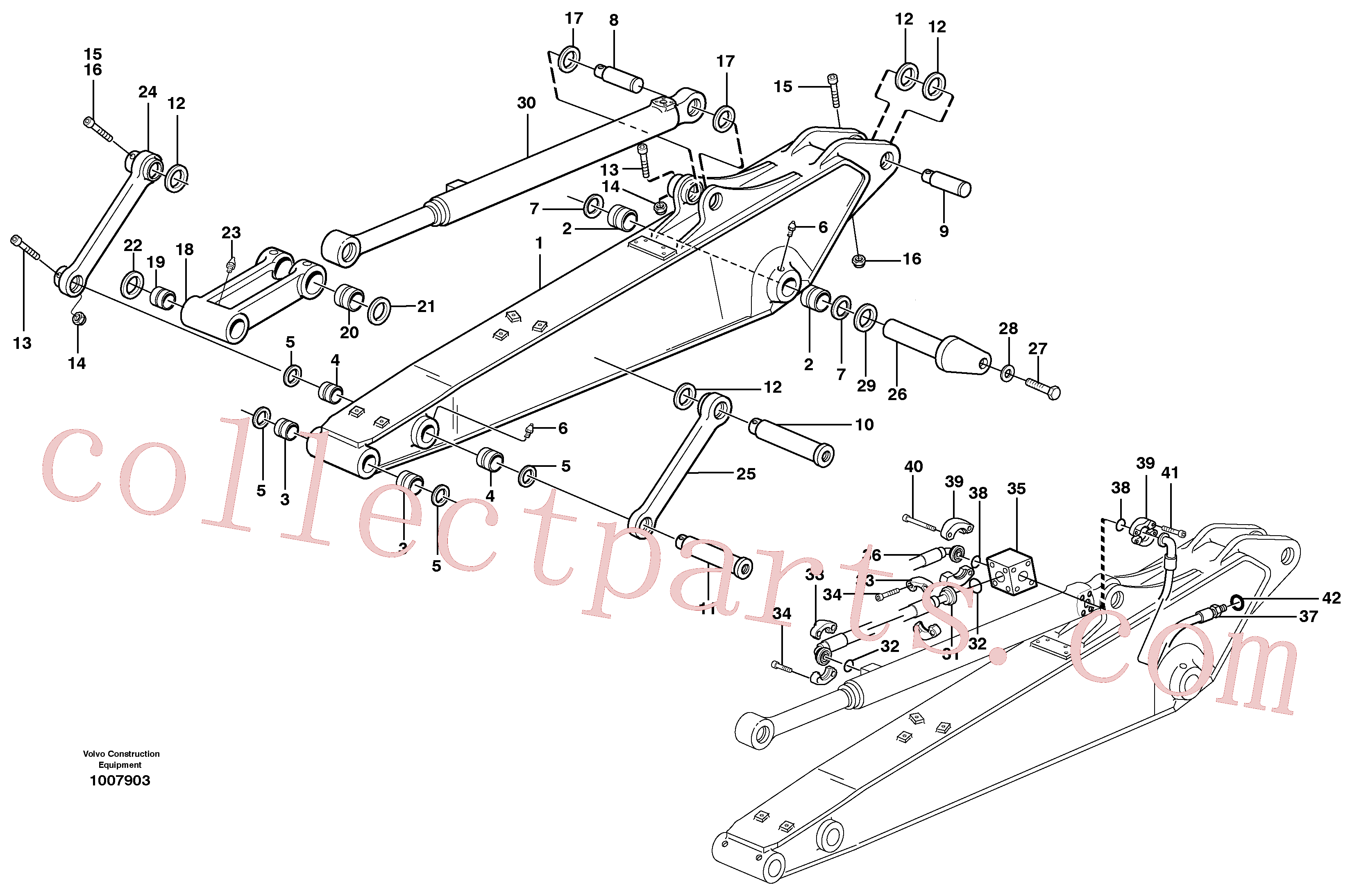 VOE14379740 for Volvo Dipper arm incl. connect.(1007903 assembly)