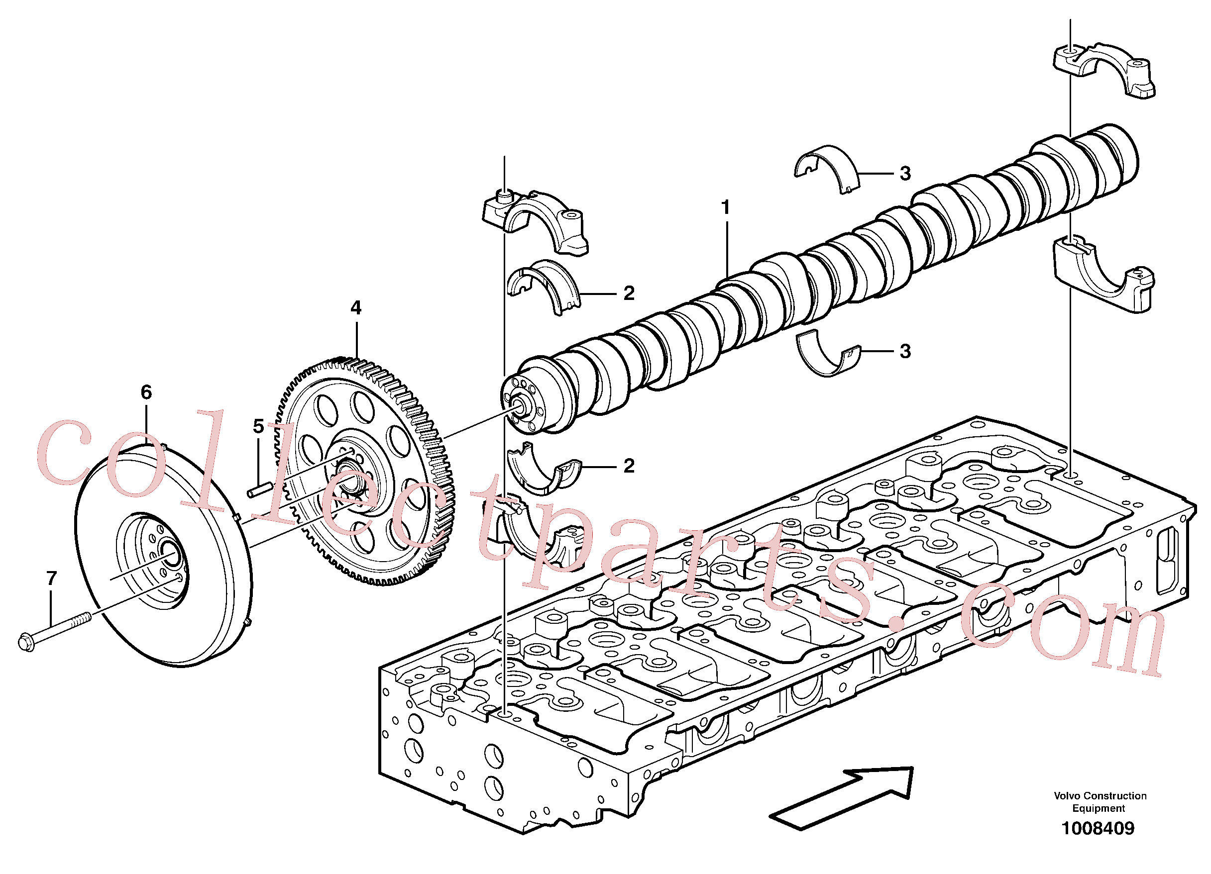 VOE13949736 for Volvo Camshaft(1008409 assembly)