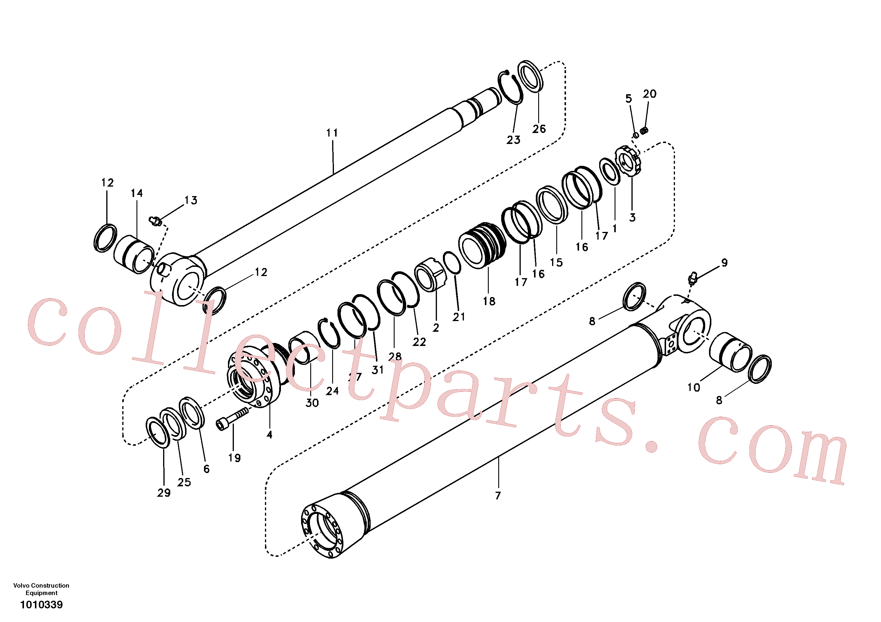 SA9566-20950 for Volvo Bucket cylinder, long reach(1010339 assembly)