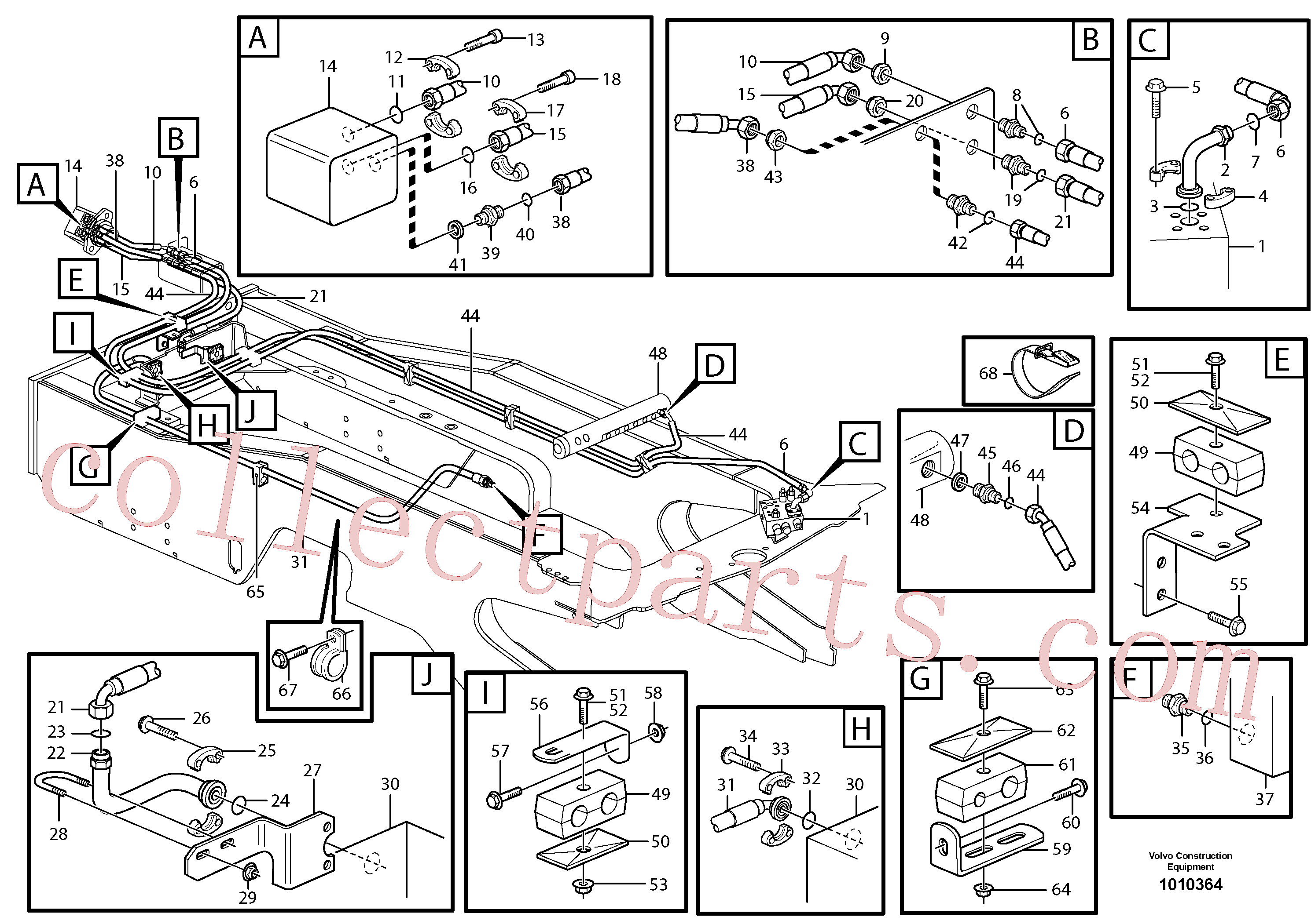 VOE13933962 for Volvo Hoses to fan drive(1010364 assembly)