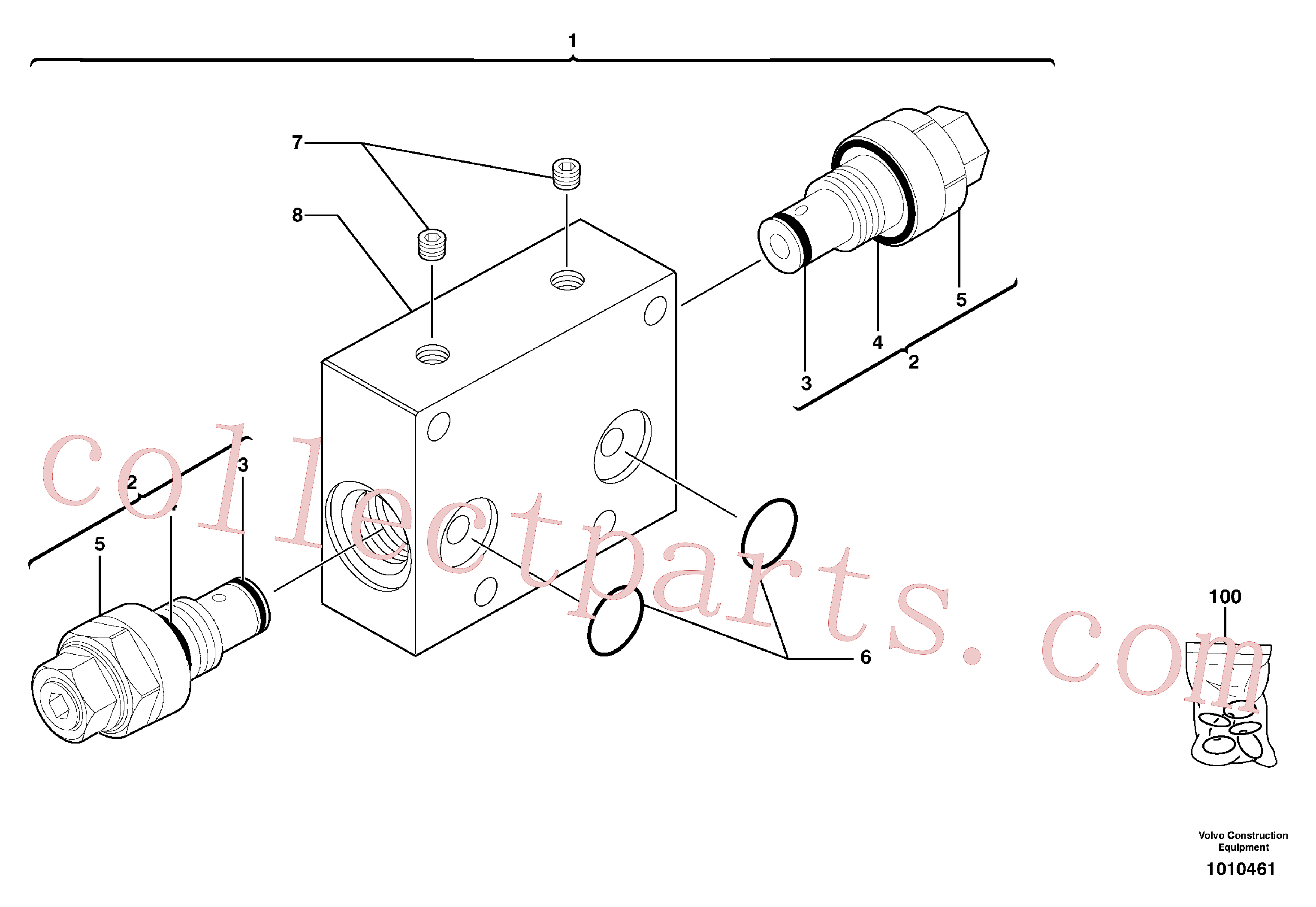 PJ7417272 for Volvo Balancing valve ( travelling )(1010461 assembly)