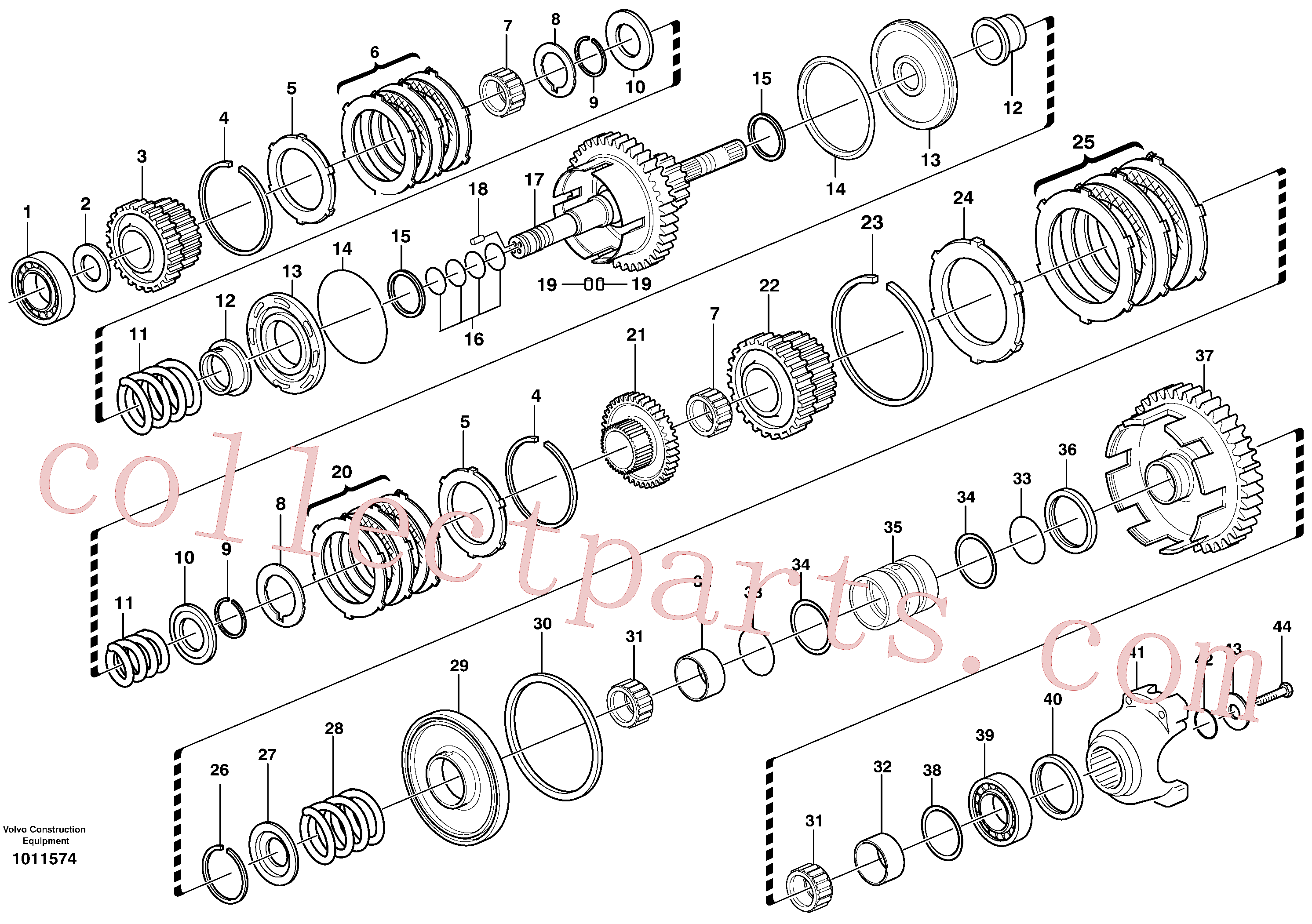 VOE11709088 for Volvo Secondary shaft(1011574 assembly)