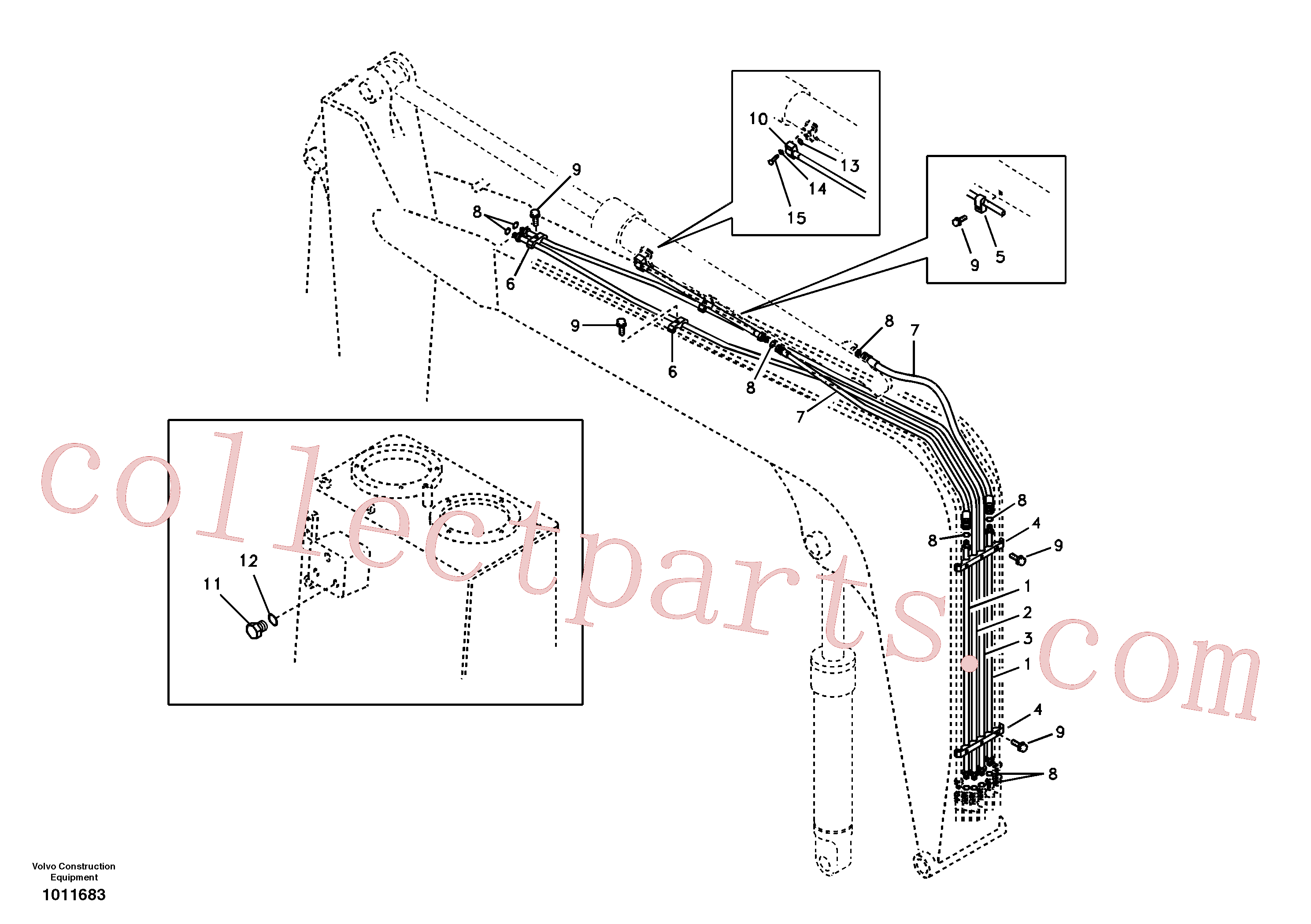 VOE14519076 for Volvo Working hydraulic, dipper arm cylinder on boom.(1011683 assembly)