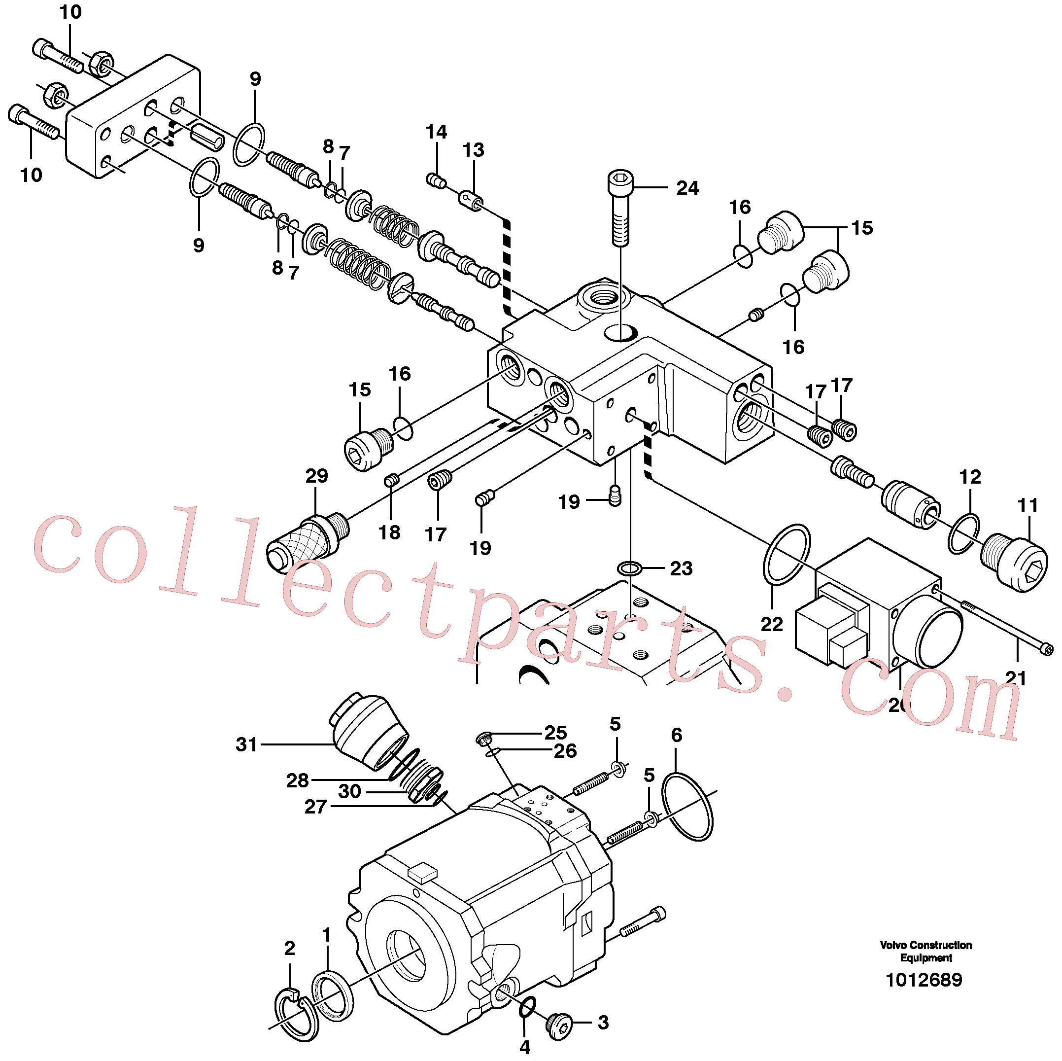 VOE11705605 for Volvo Hydraulic pump(1012689 assembly)