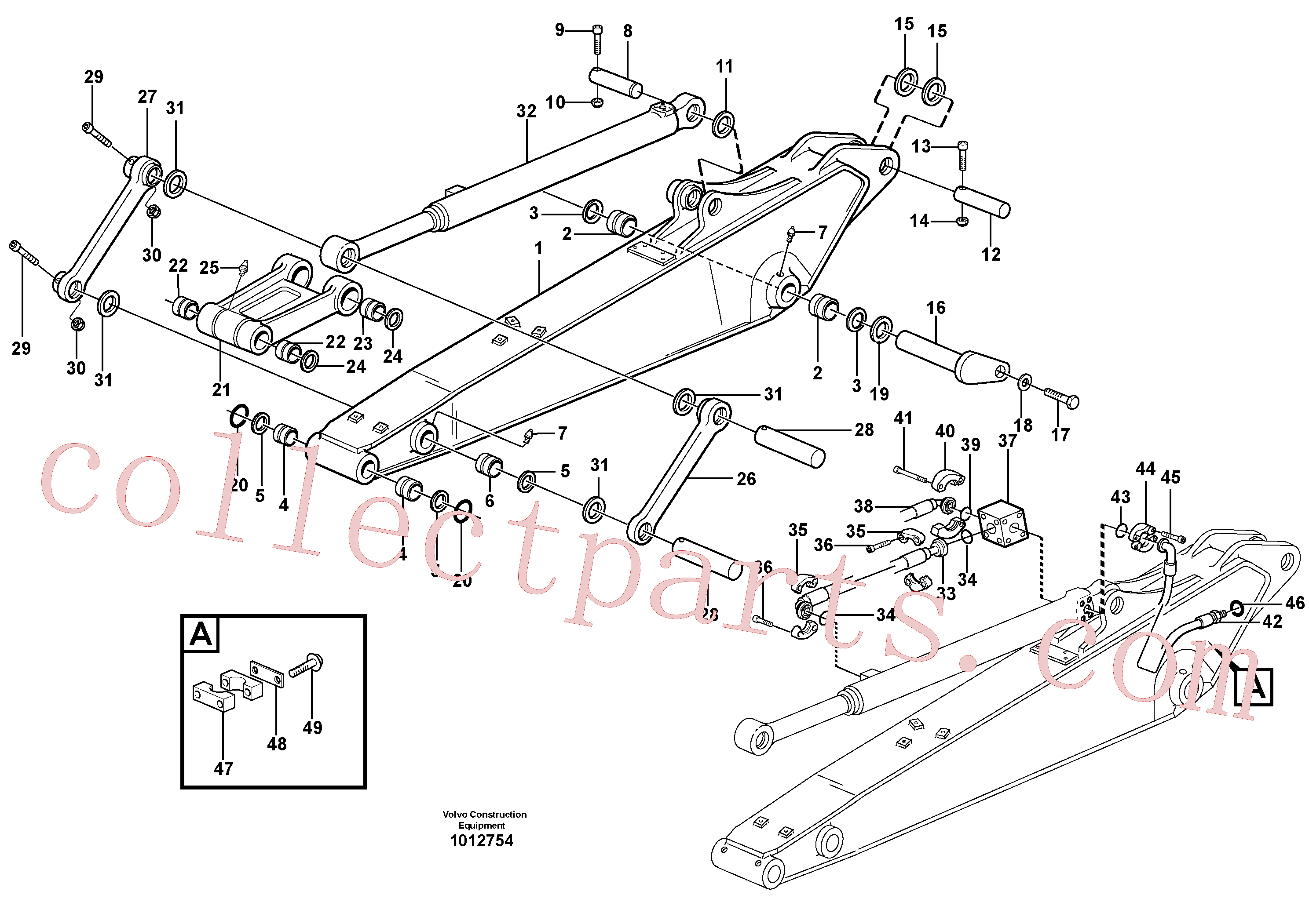 VOE14379740 for Volvo Dipper arm incl. connect.(1012754 assembly)
