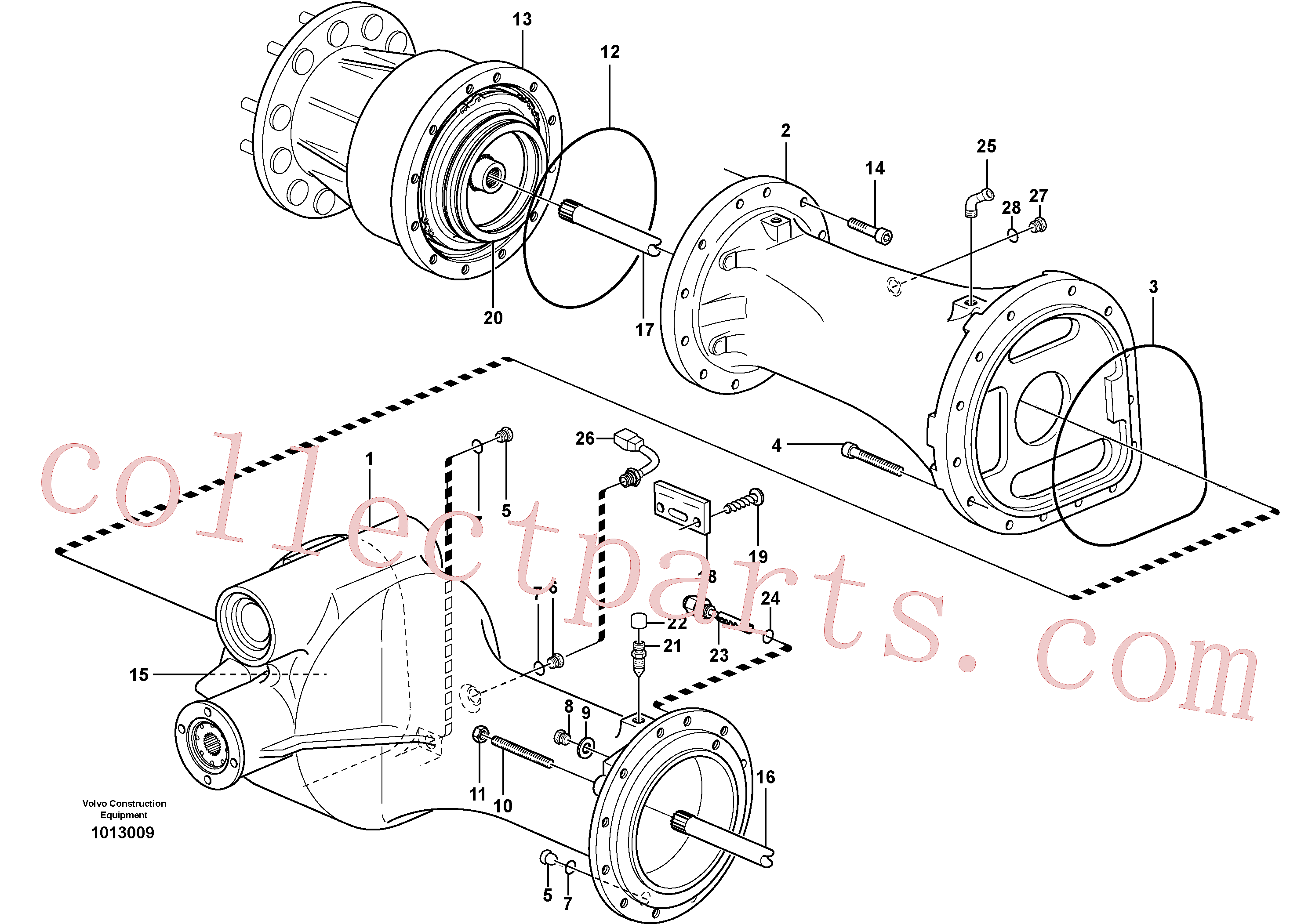 VOE947624 for Volvo Planet shaft, rear(1013009 assembly)