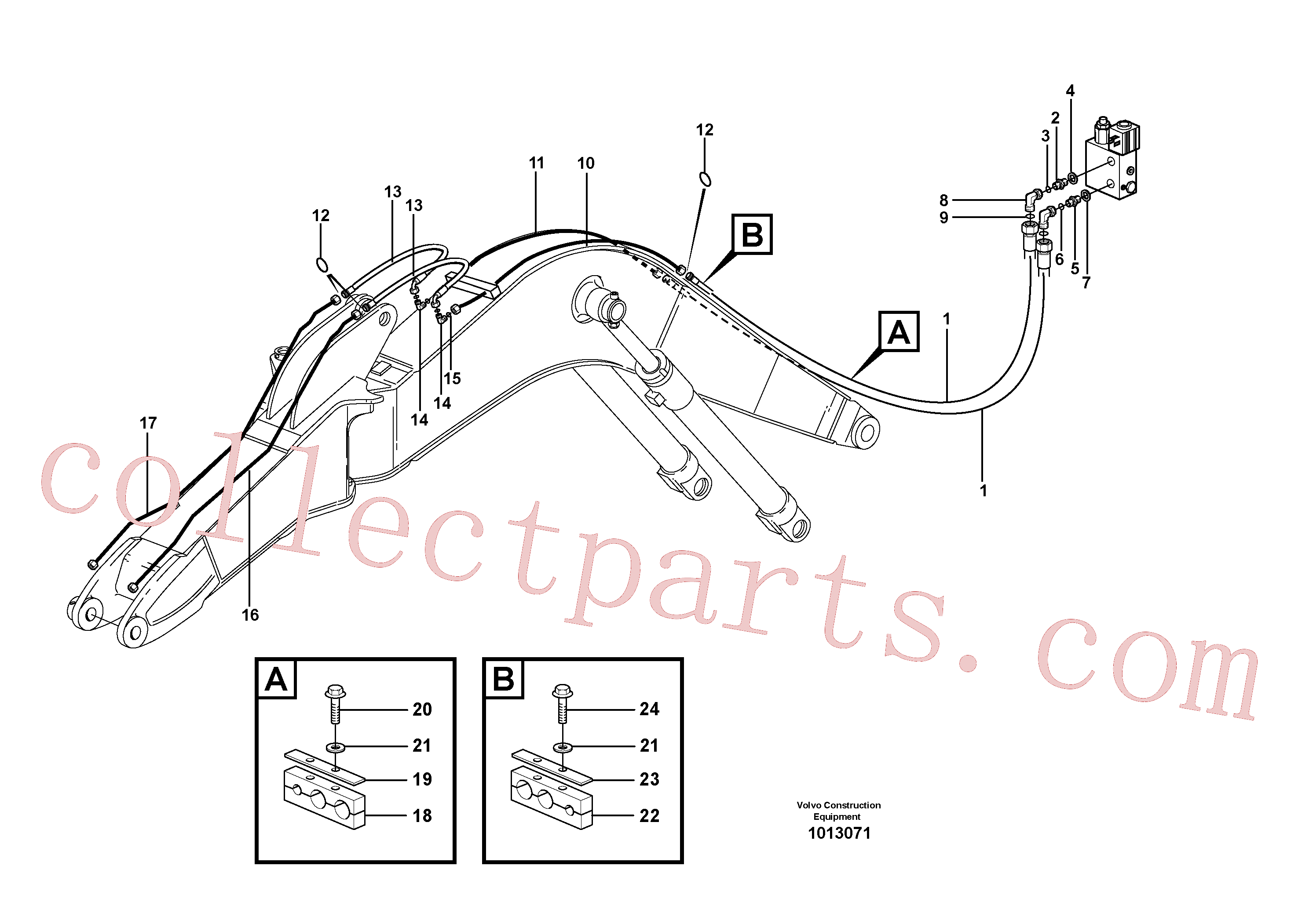 VOE14372153 for Volvo Equipment hydraulics, offset(1013071 assembly)
