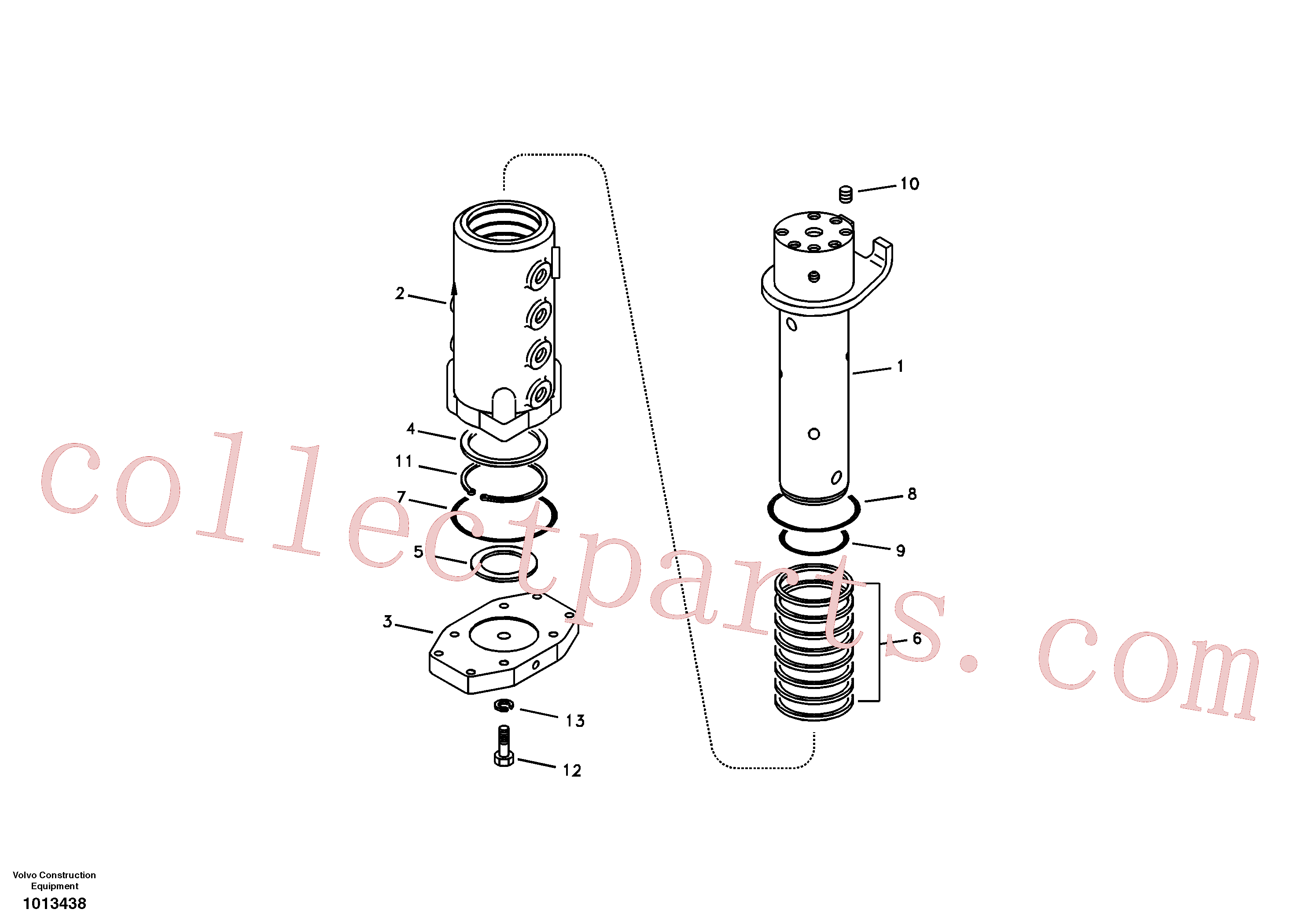 SA9511-22095 for Volvo Turning joint(1013438 assembly)