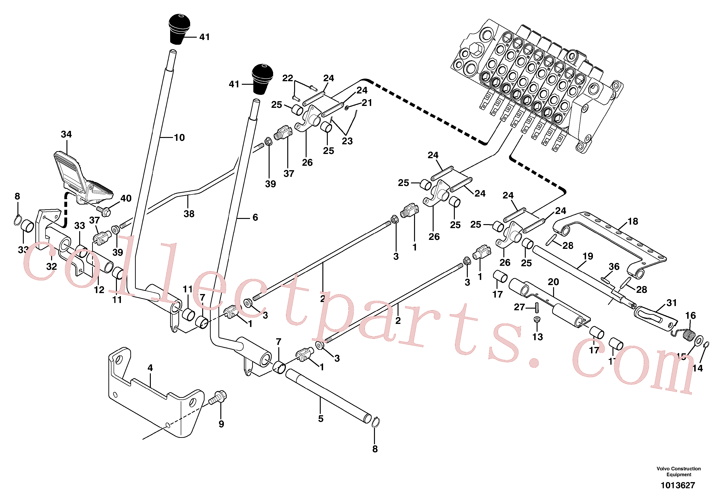 VOE11801163 for Volvo Control levers : travelling / accessories(1013627 assembly)