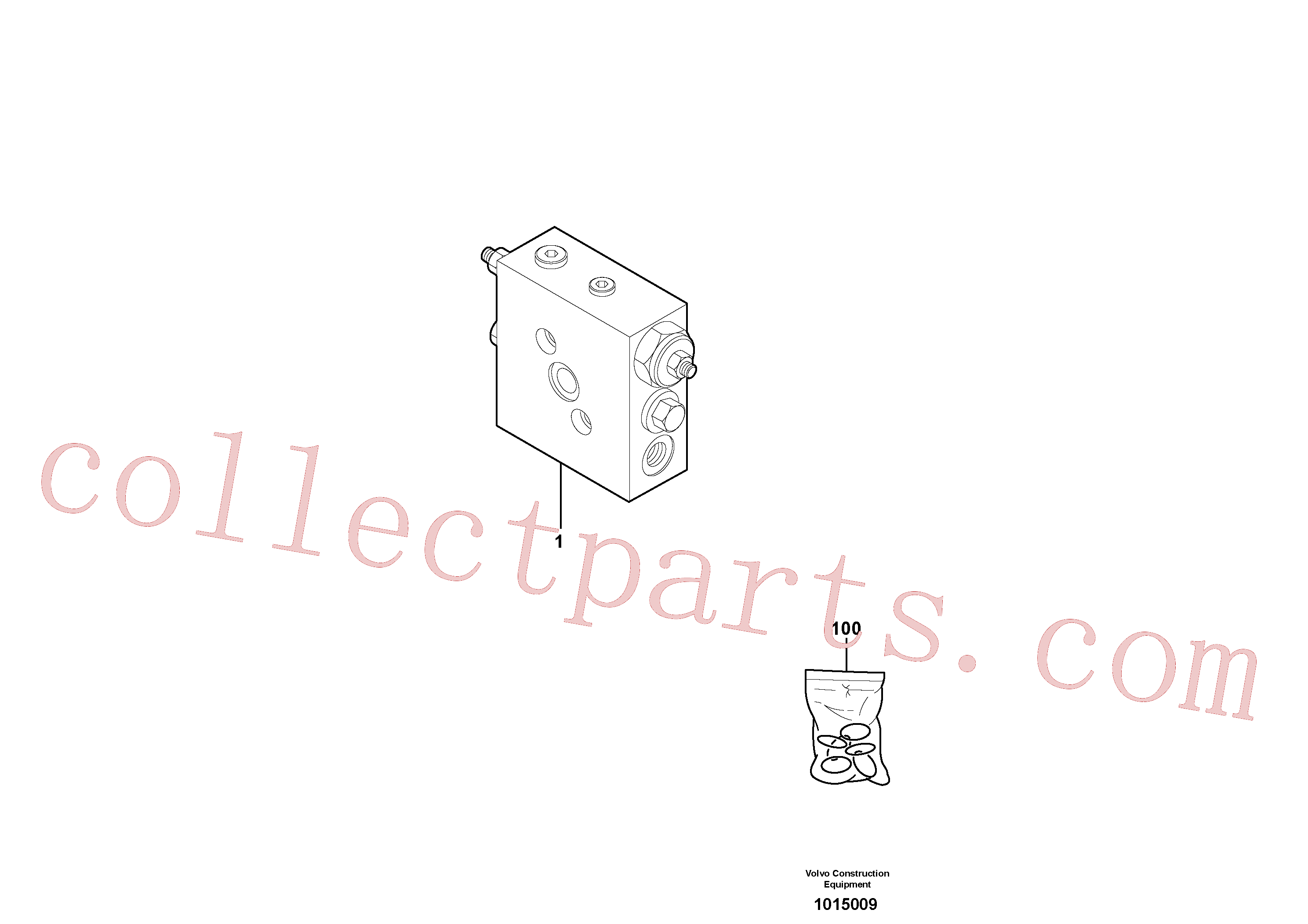 VOE11803878 for Volvo Balancing valve ( slewing )(1015009 assembly)