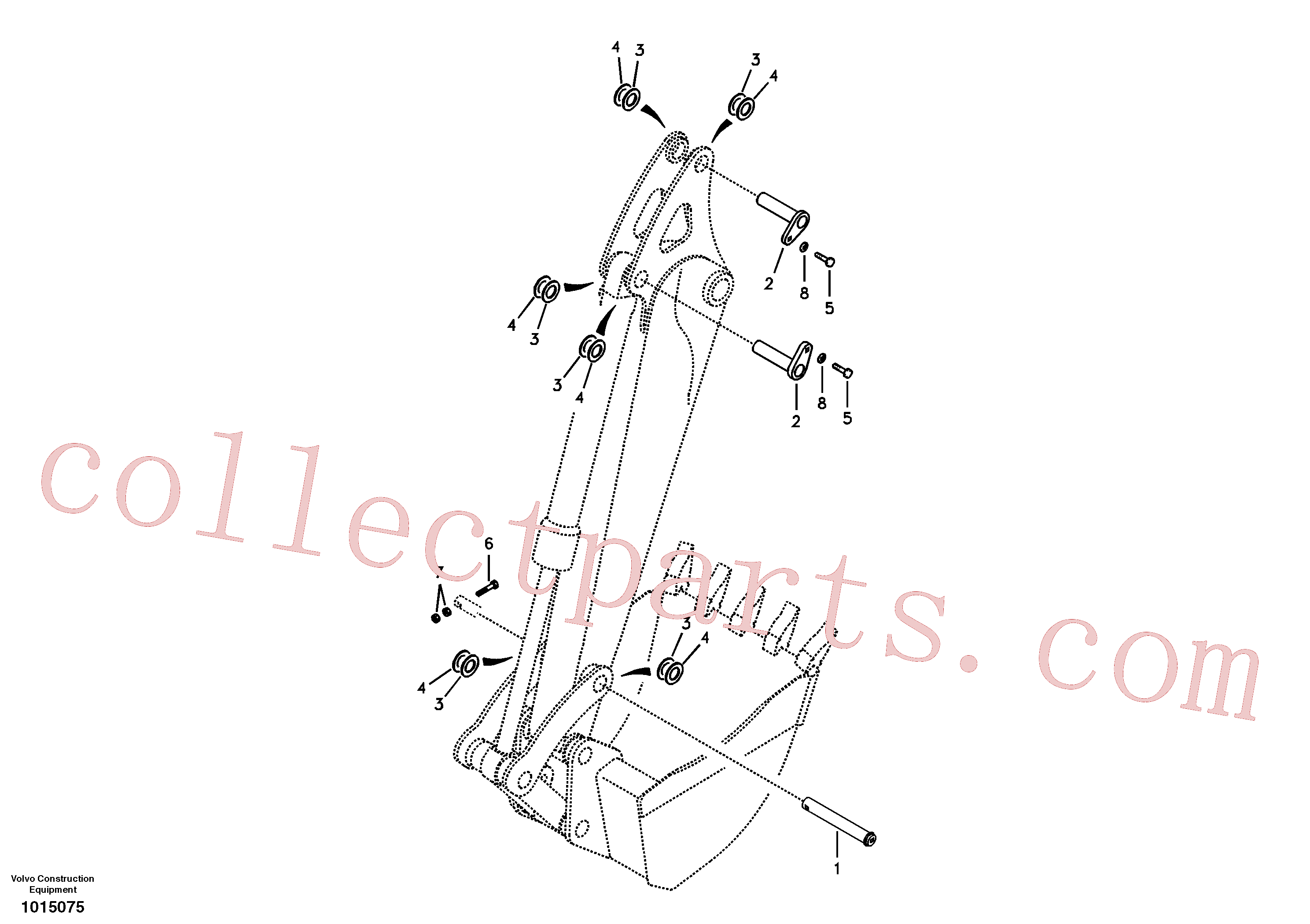 VOE14532477 for Volvo Links to dipper arm(1015075 assembly)
