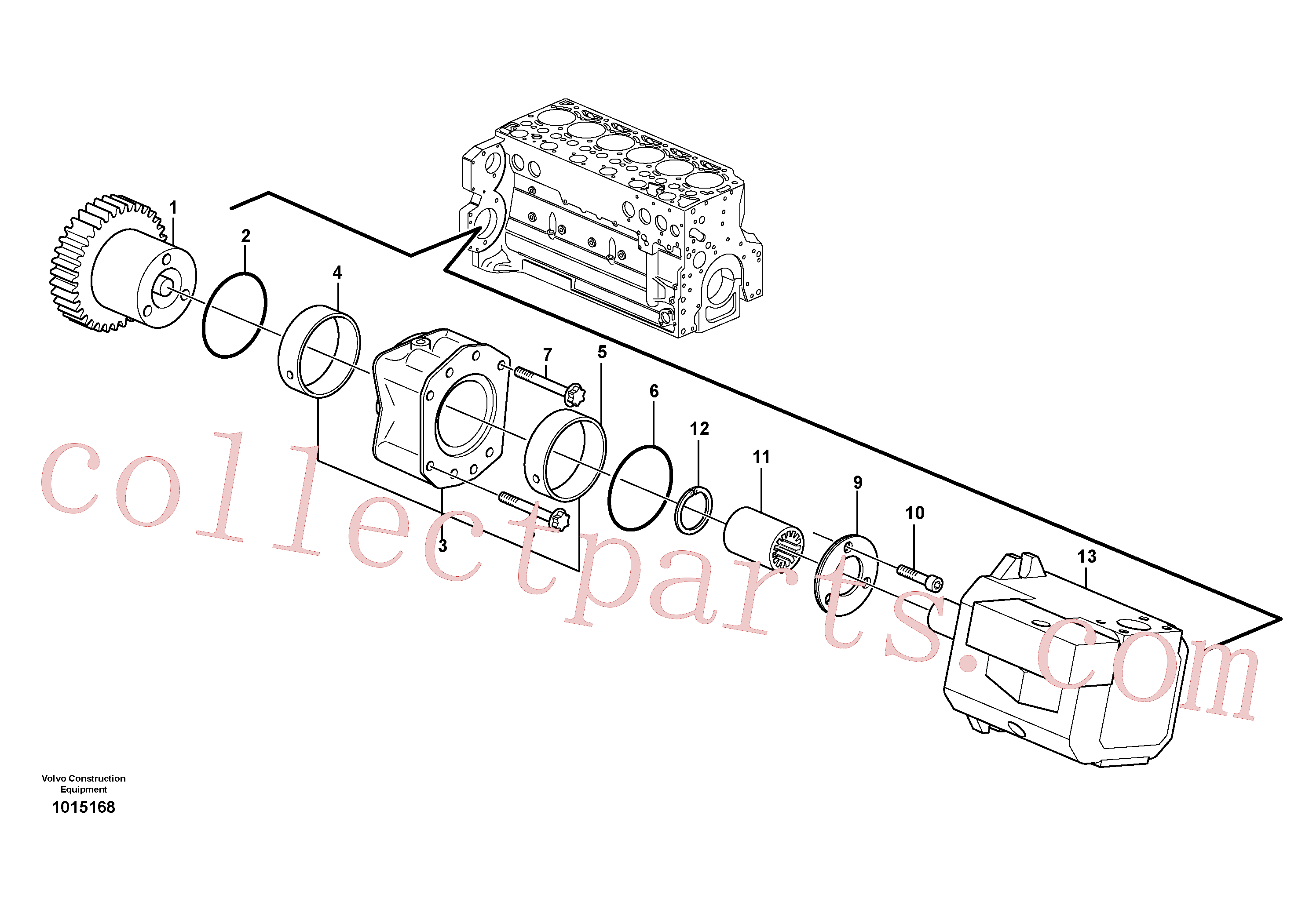 VOE20450811 for Volvo Pump drive power take-off(1015168 assembly)