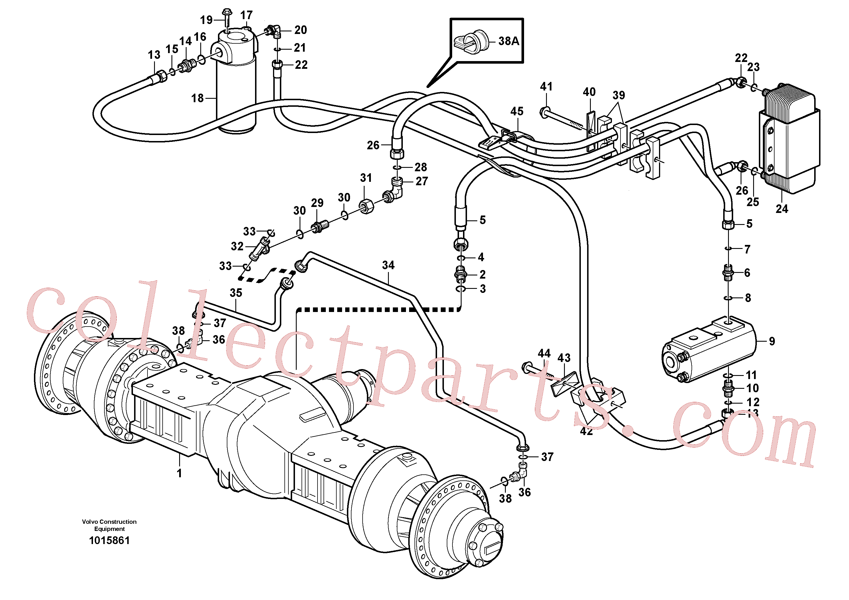 VOE17457469 for Volvo Oil cooler, forword, pump circuit, Oil cooler, forward, pump circuit.(1015861 assembly)