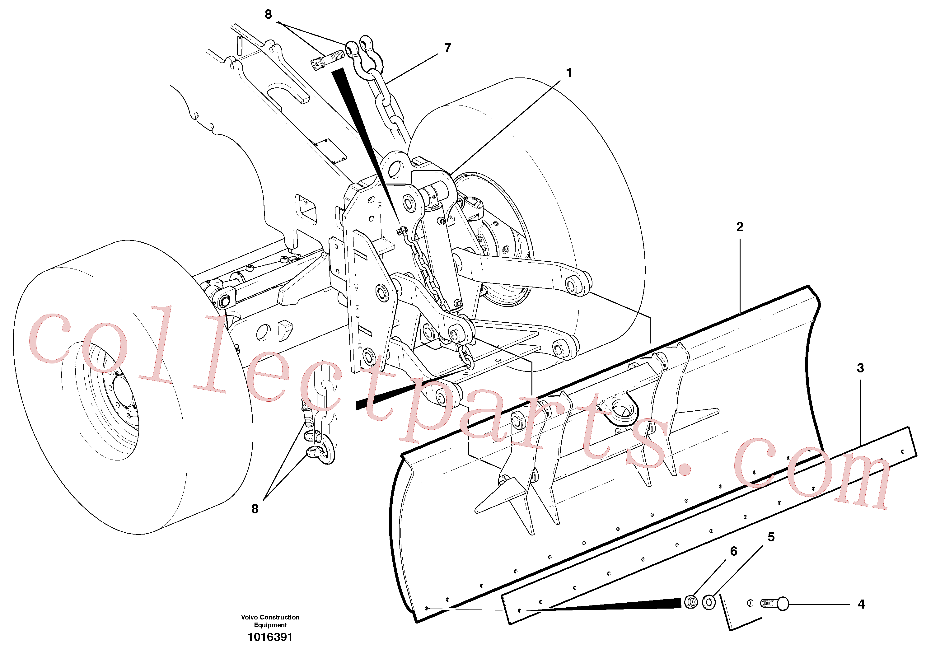 CH22129 for Volvo Dozer Blade Assembly(1016391 assembly)