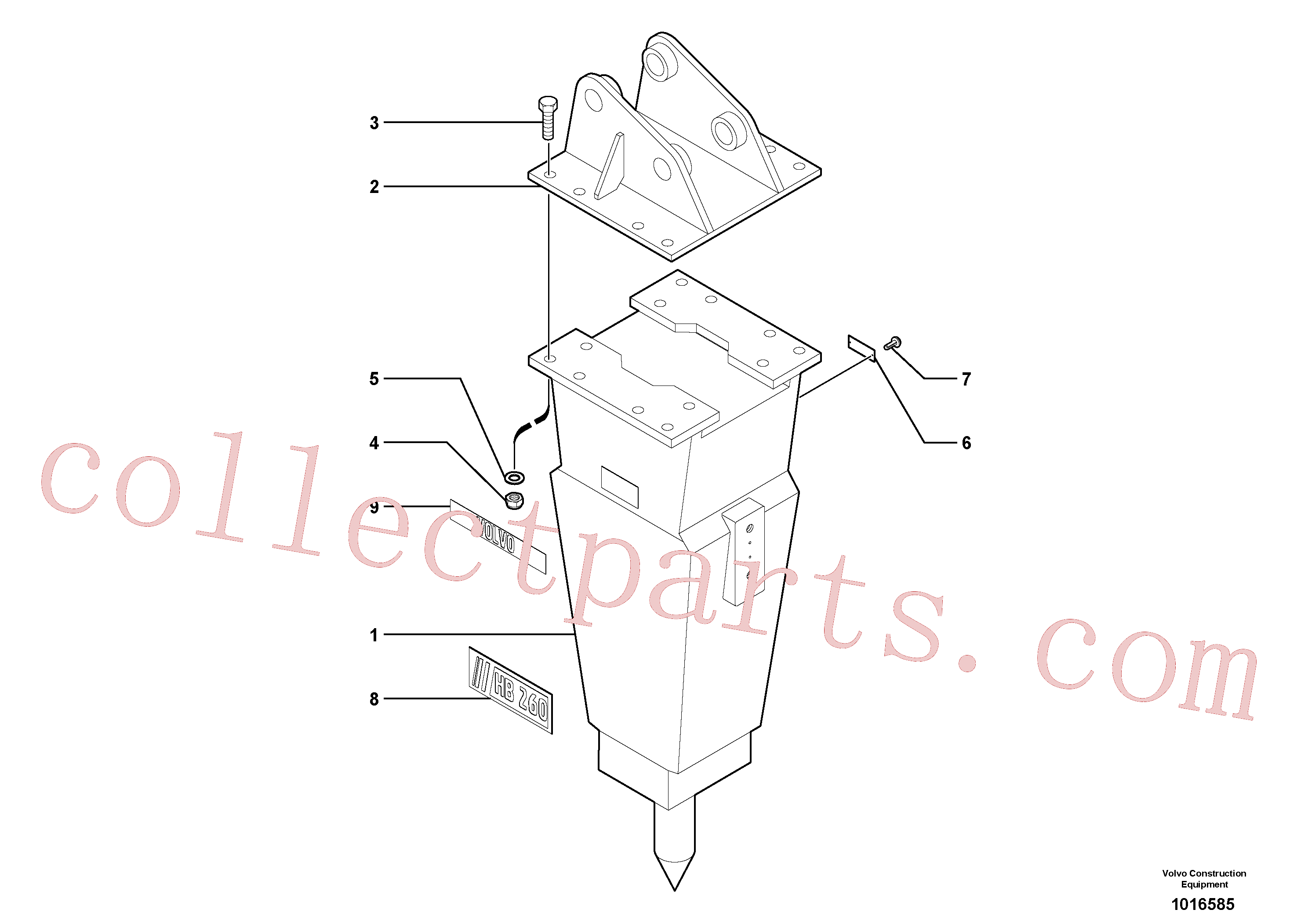 VOE11805687 for Volvo Hammer(1016585 assembly)
