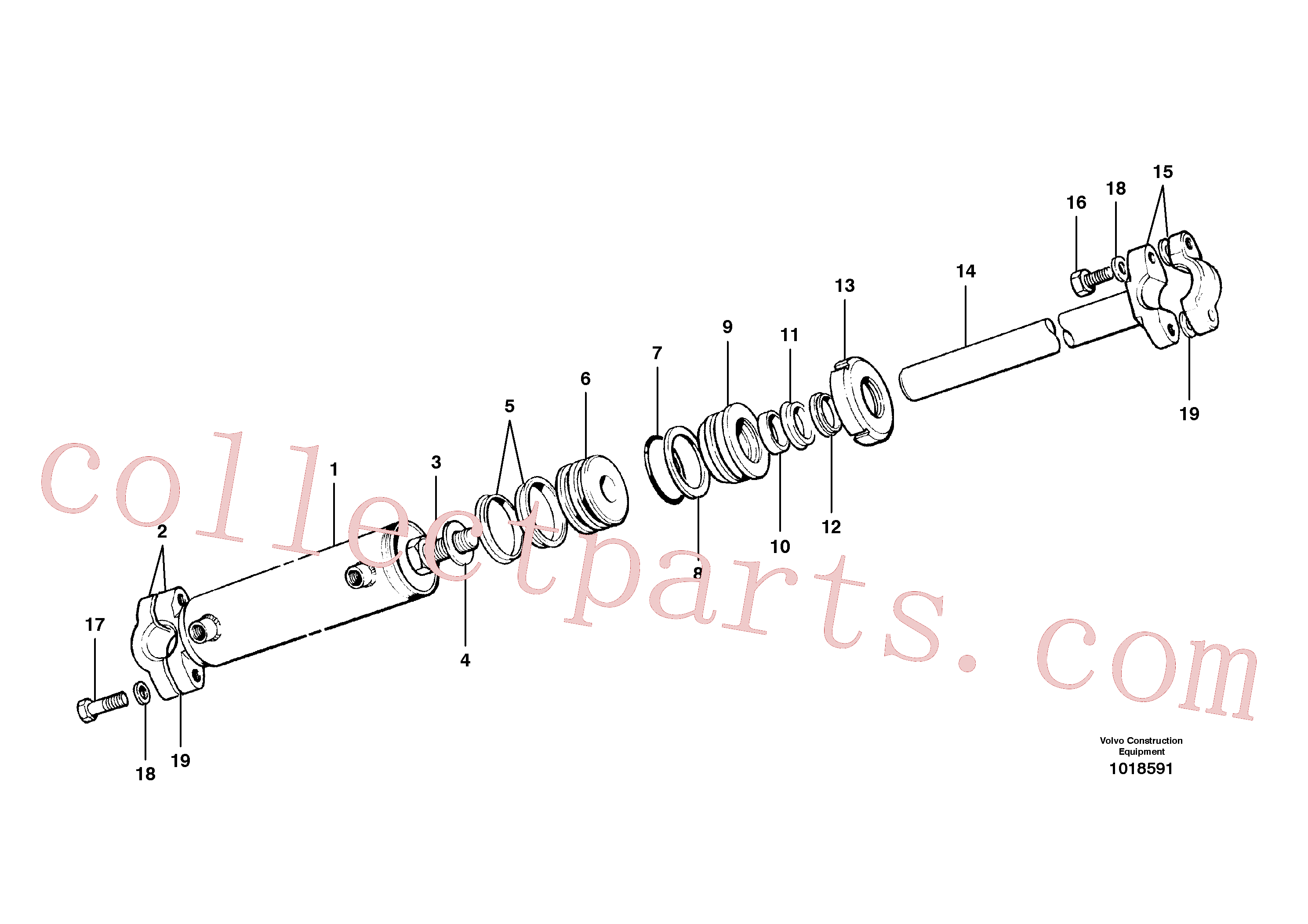 CH59945 for Volvo Circle shift cylinder(1018591 assembly)