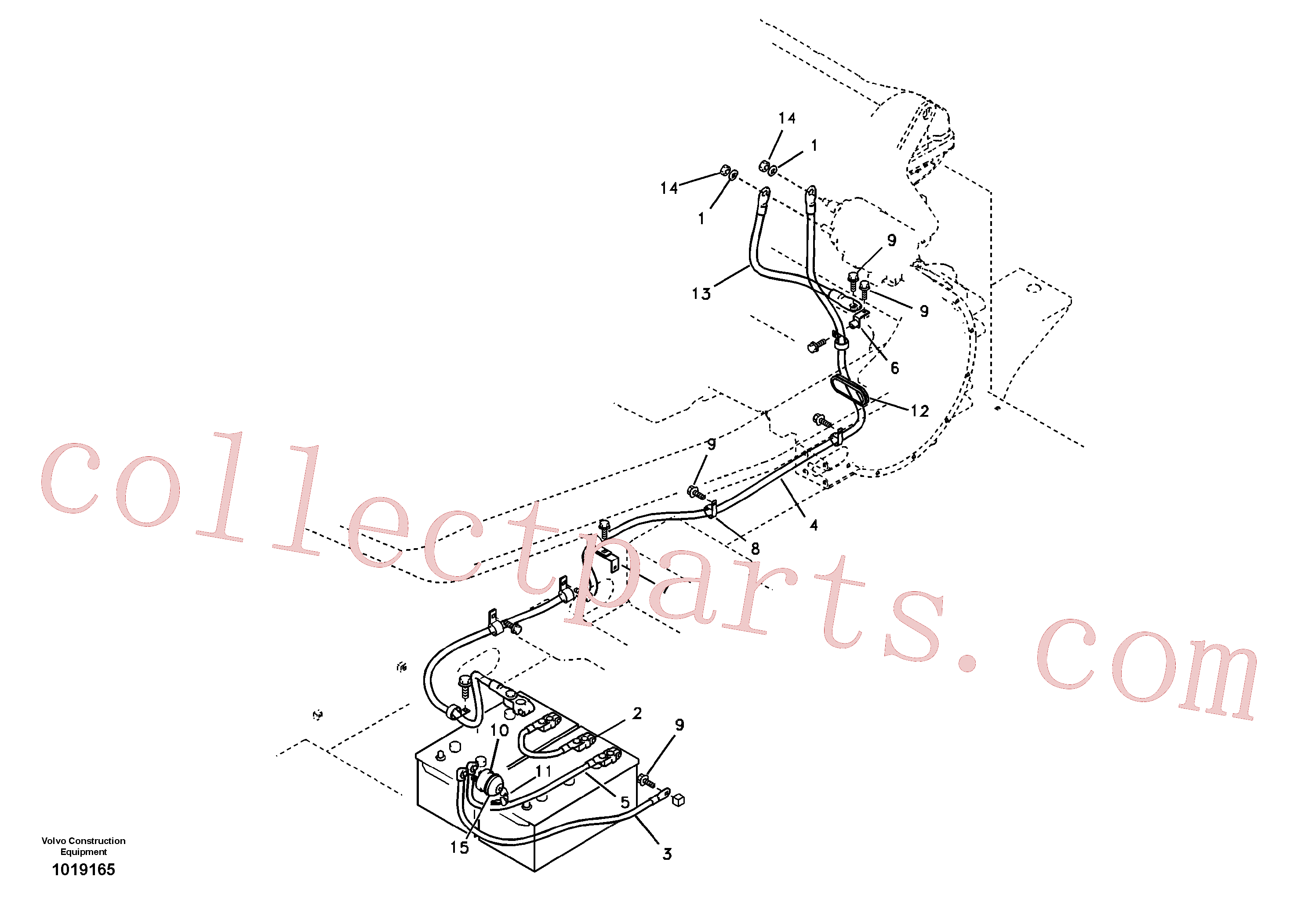 VOE14578094 for Volvo Cables, battery(1019165 assembly)