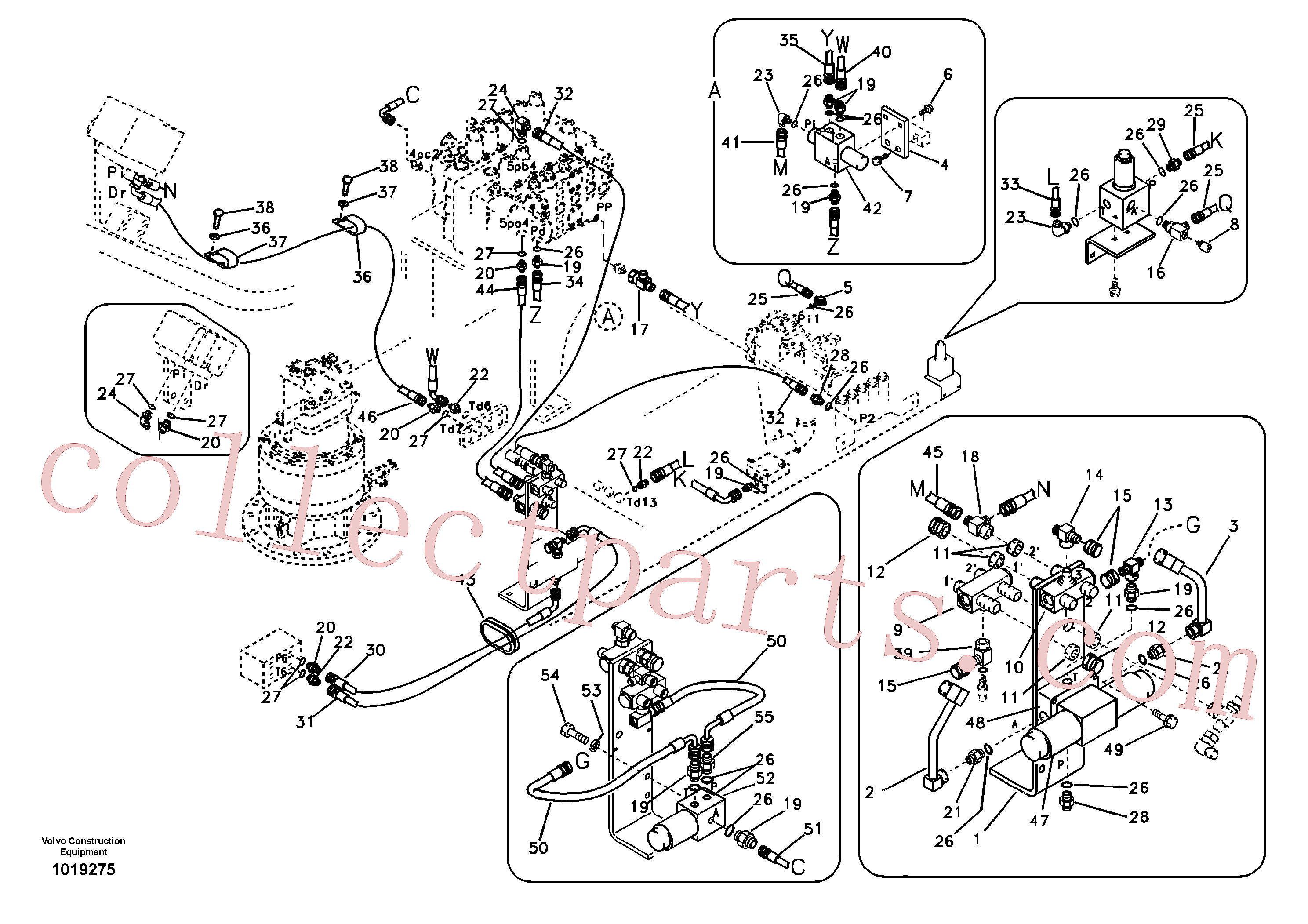 SA9451-02238 for Volvo Working hydraulic, hammer and shear for 1st pump flow(1019275 assembly)