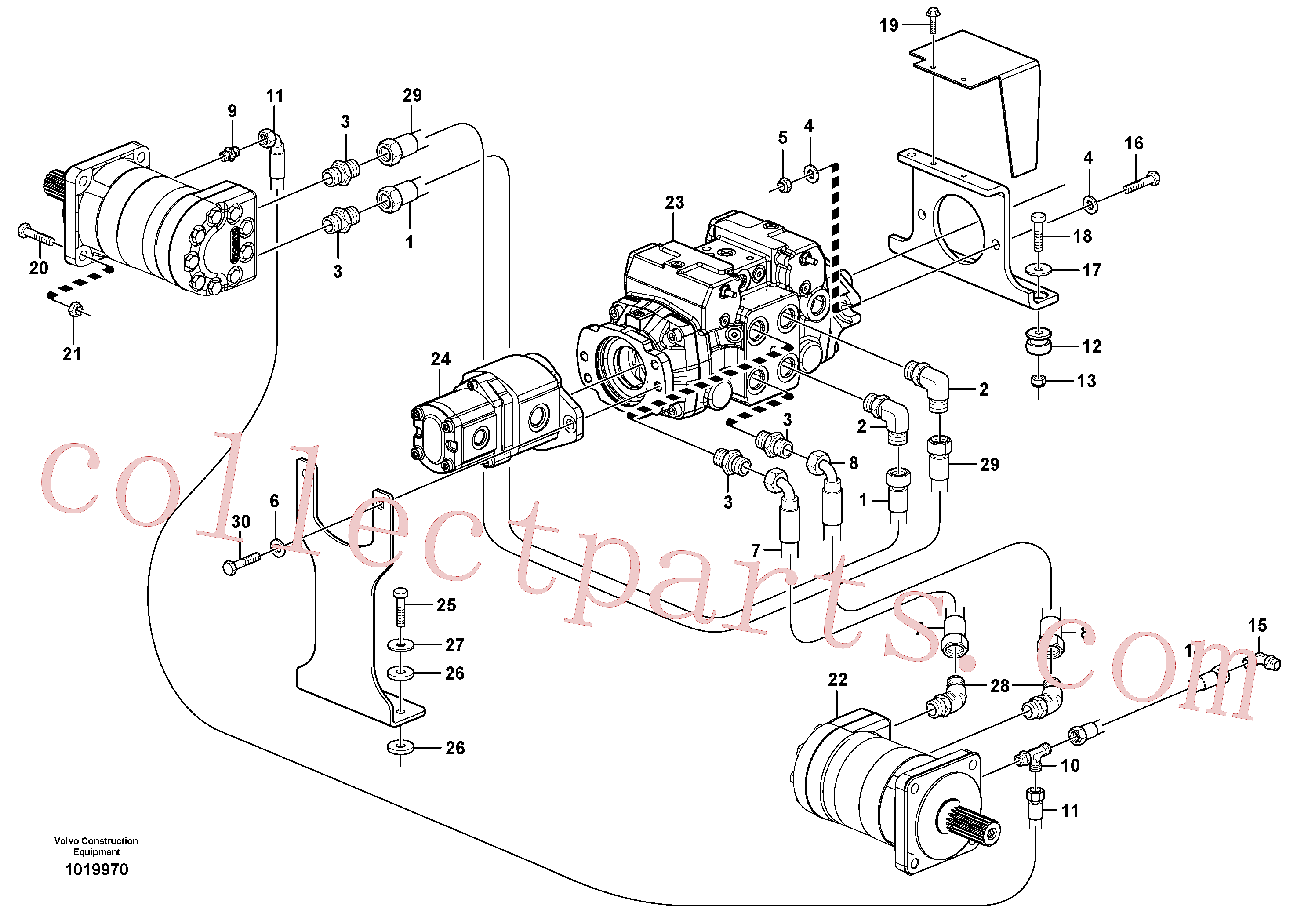 VOE955564 for Volvo Hydraulic system Transport(1019970 assembly)