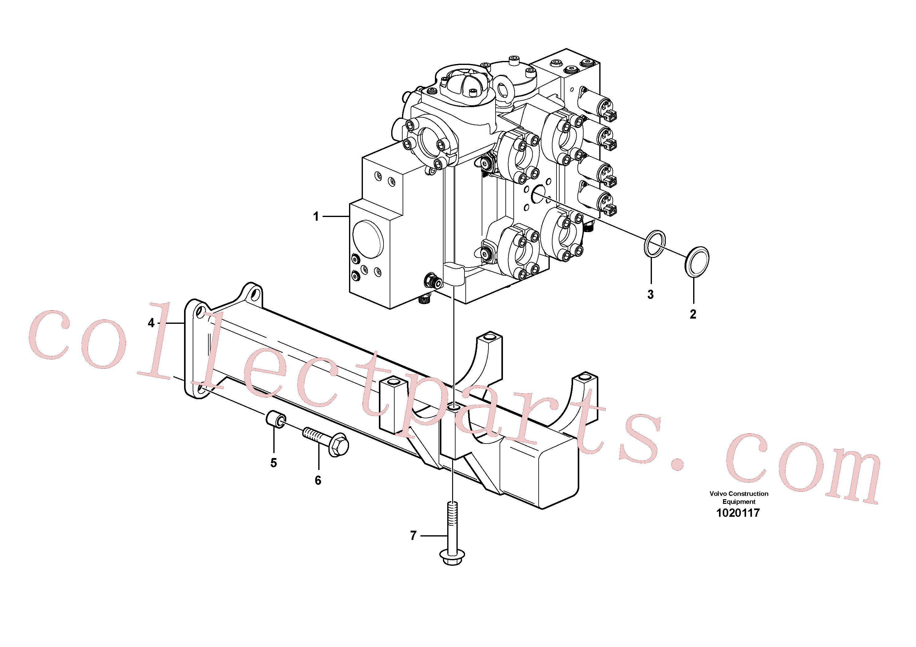 VOE11108798 for Volvo Control valve with fitting parts.(1020117 assembly)