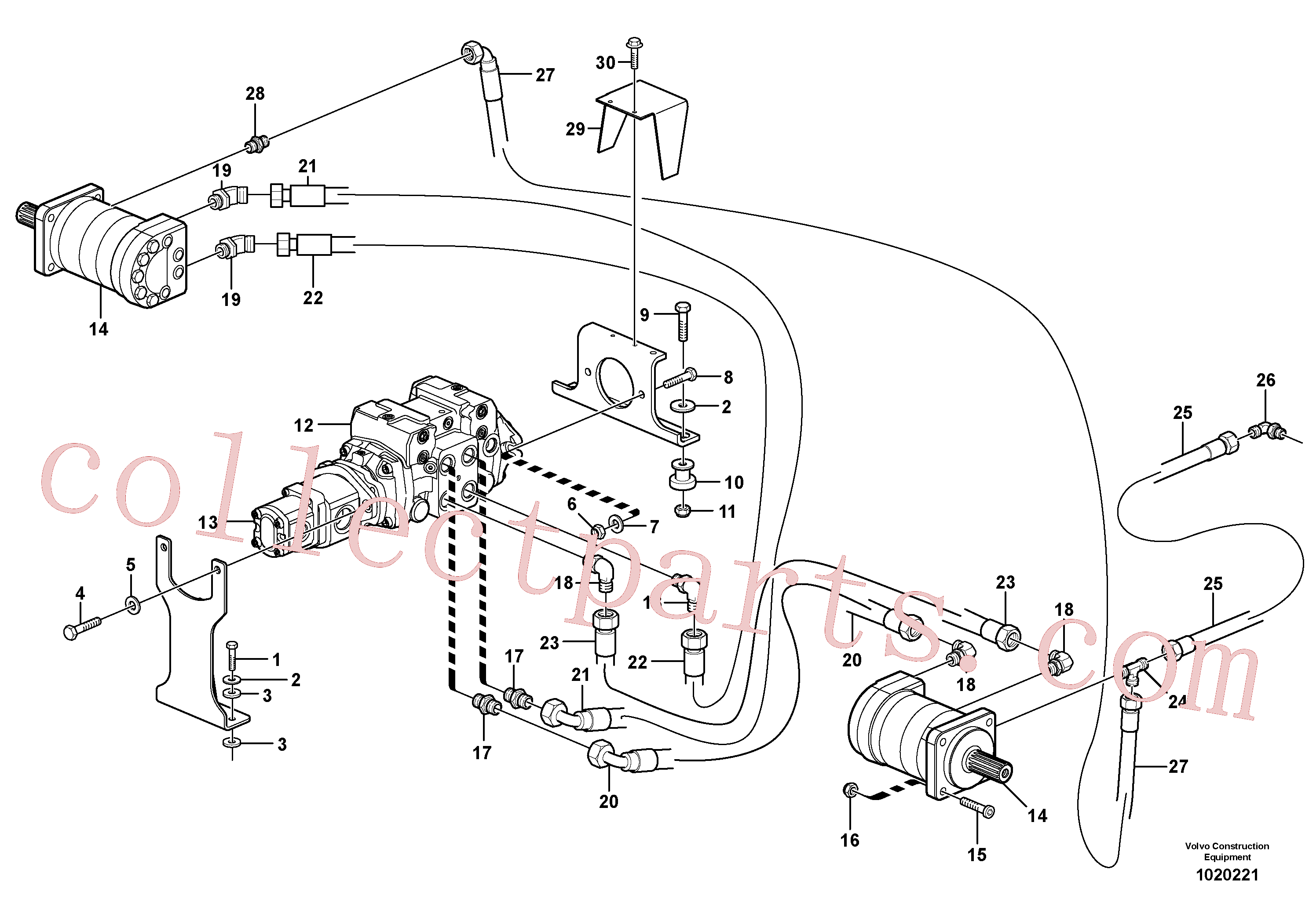 VOE950356 for Volvo Hydraulic system Transport(1020221 assembly)