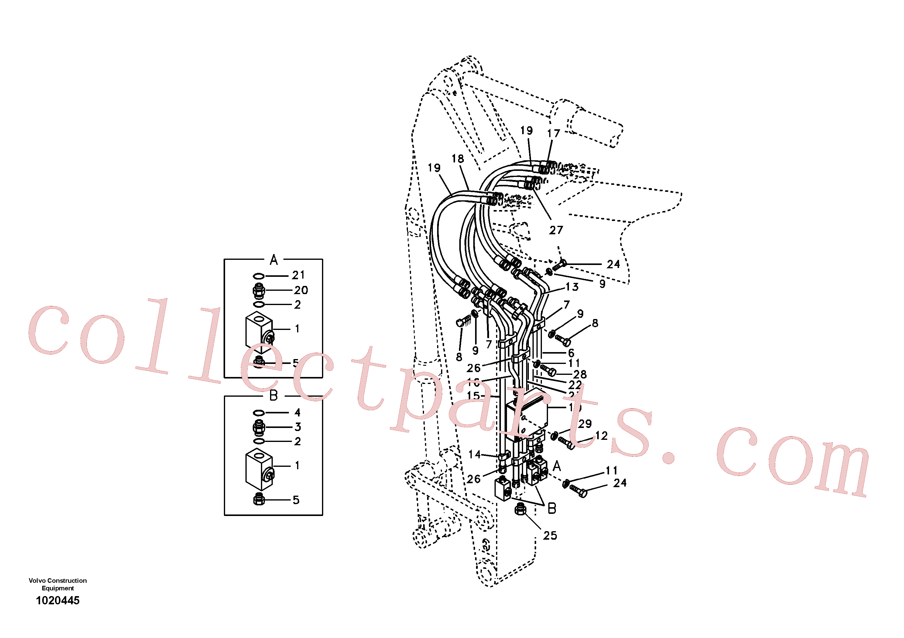 SA14511963 for Volvo Working hydraulic, Forestry(1020445 assembly)