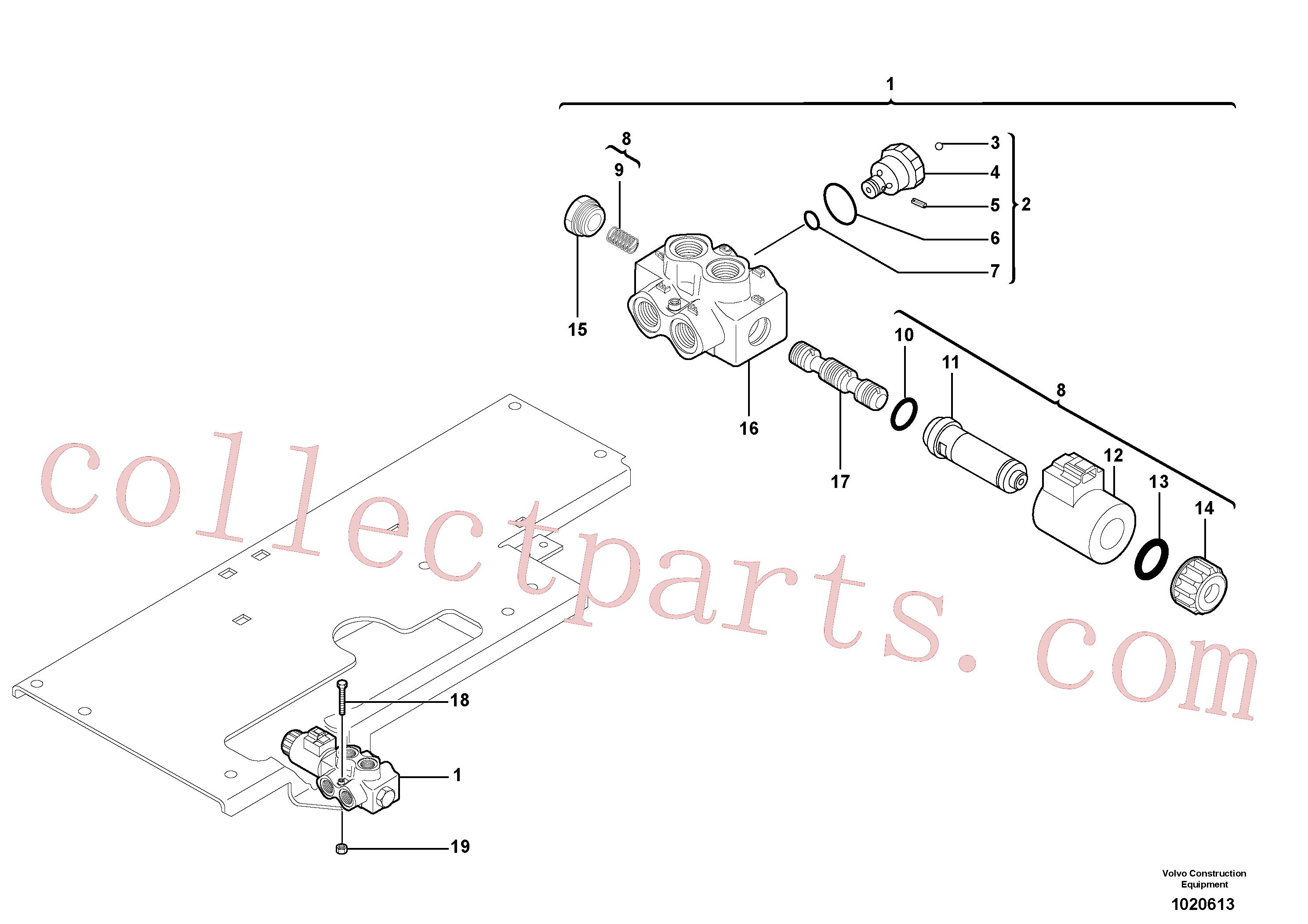 PJ7417495 for Volvo Slewing-offset selector switch(1020613 assembly)