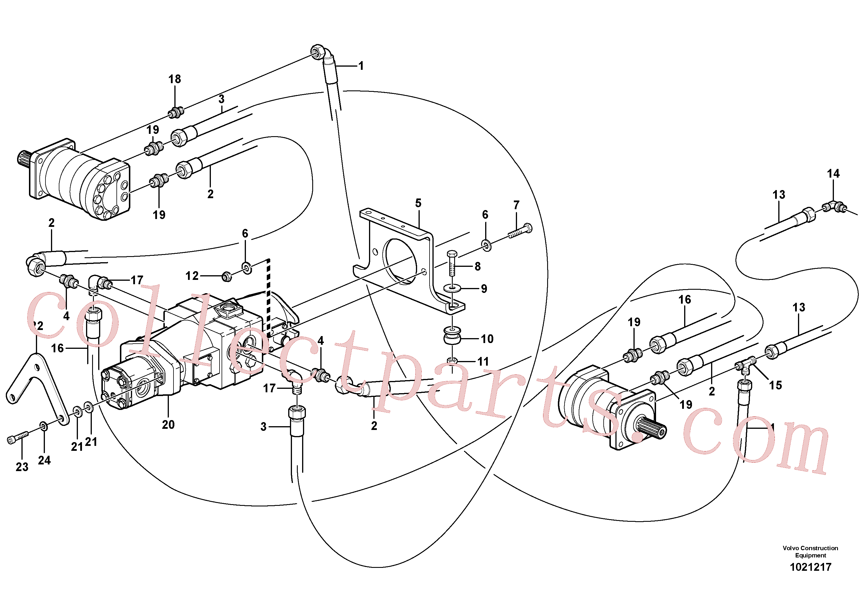VOE955564 for Volvo Hydraulic system Transport(1021217 assembly)