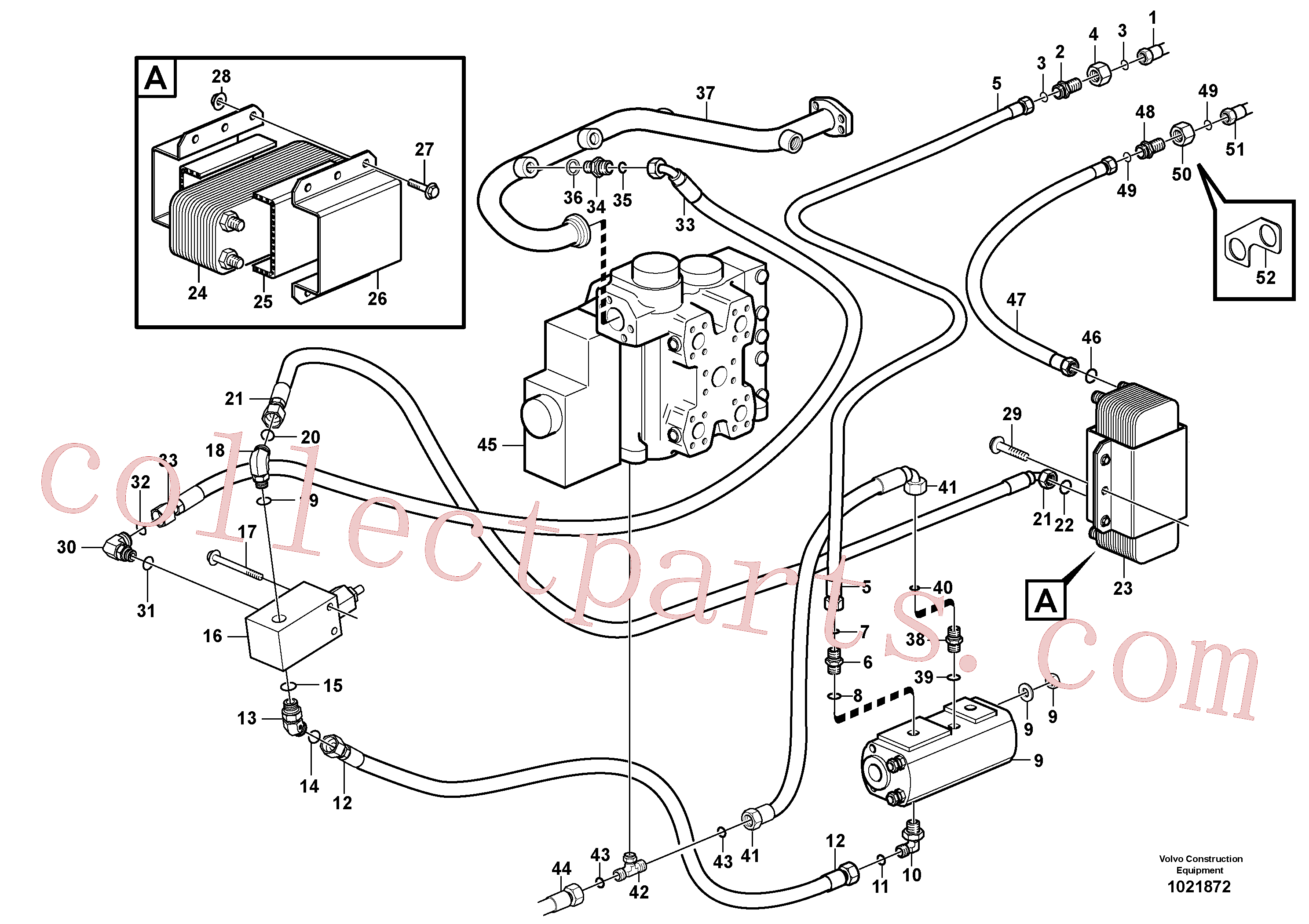 VOE13933962 for Volvo Oil cooler, forward, motor circuit.(1021872 assembly)