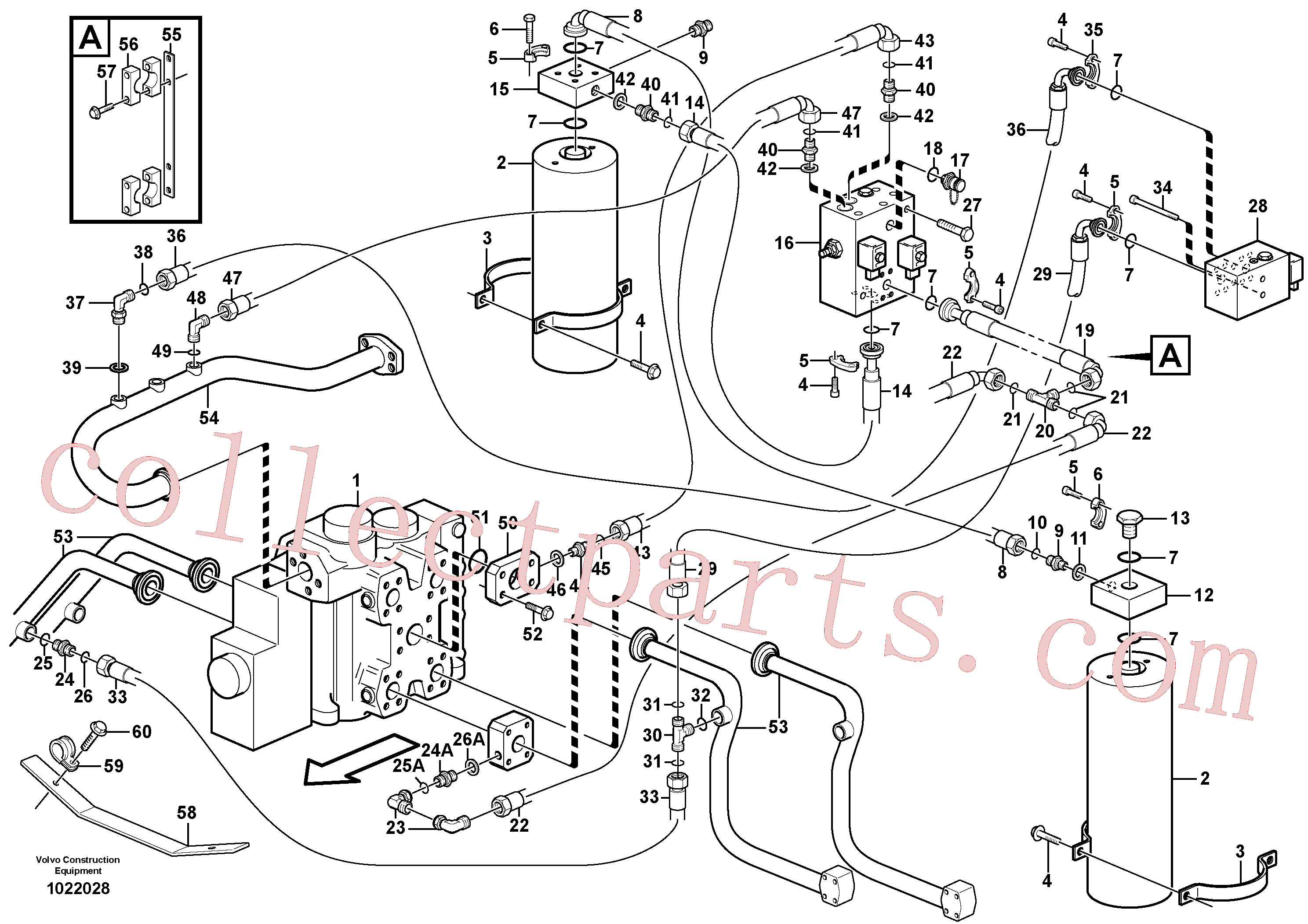 VOE11714081 for Volvo Boom suspension system(1022028 assembly)