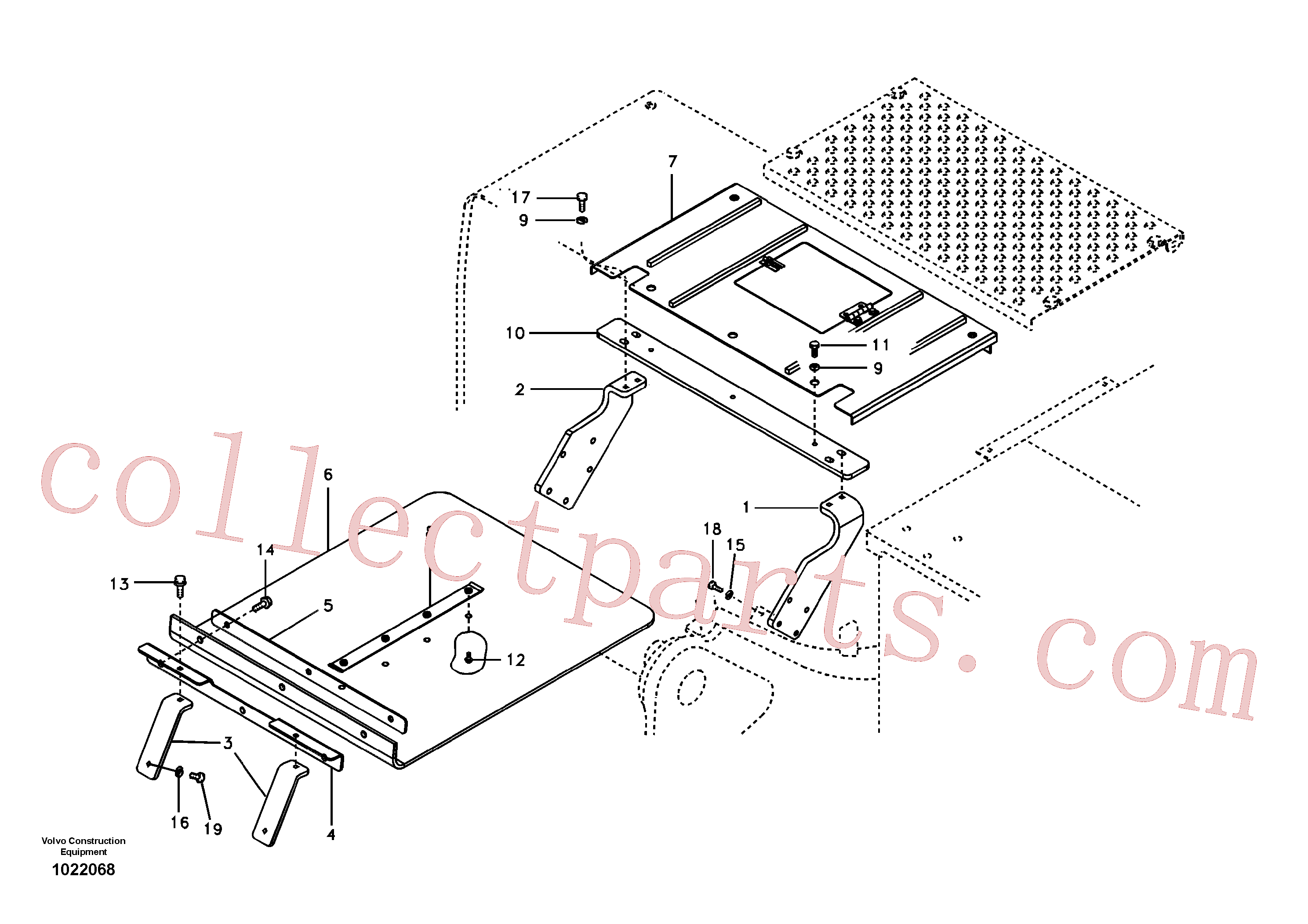 VOE14524912 for Volvo Protecting plate, Forestry(1022068 assembly)