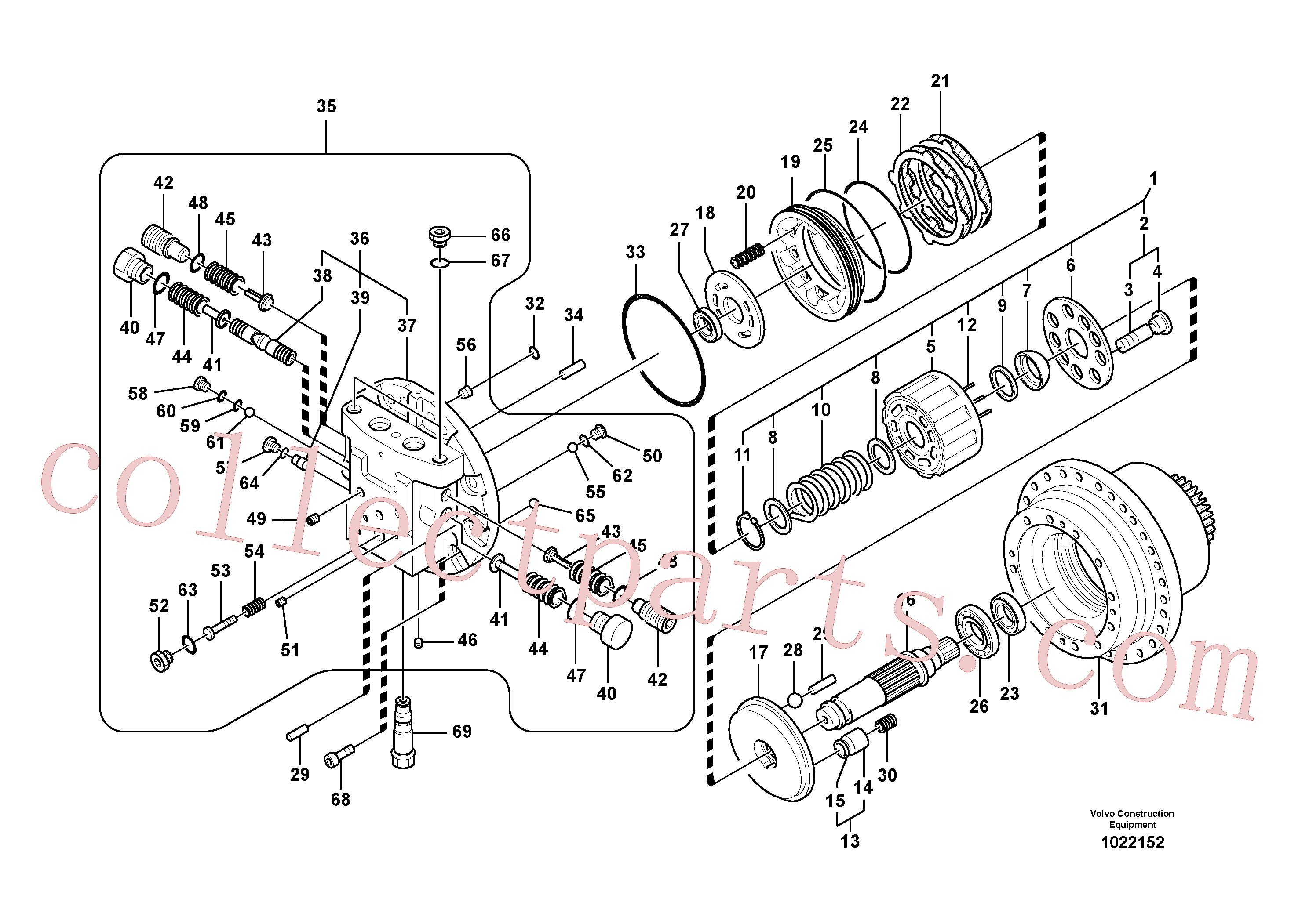 SA8230-21550 for Volvo Travel motor(1022152 assembly)