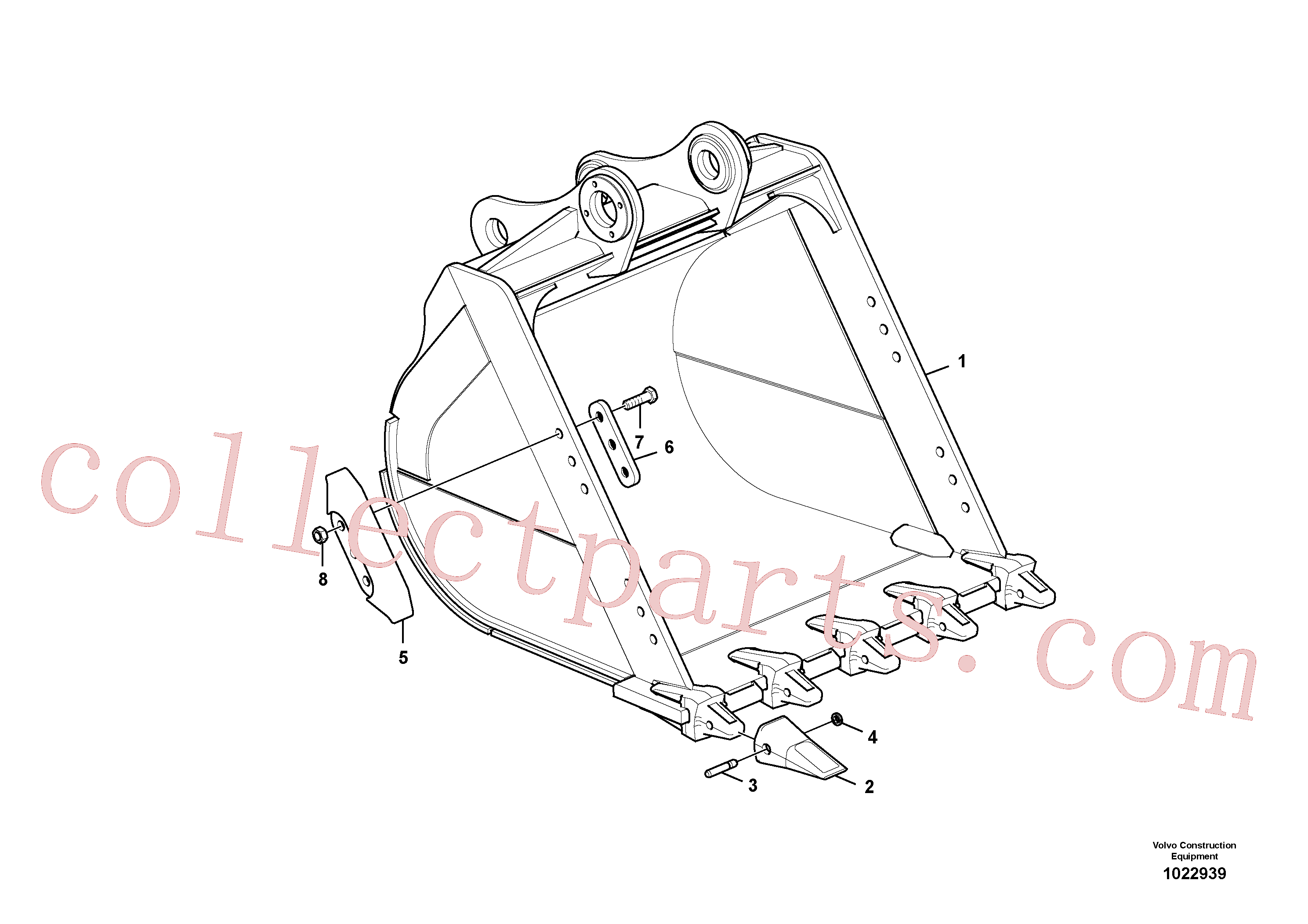 VOE14530543 for Volvo Bucket(1022939 assembly)