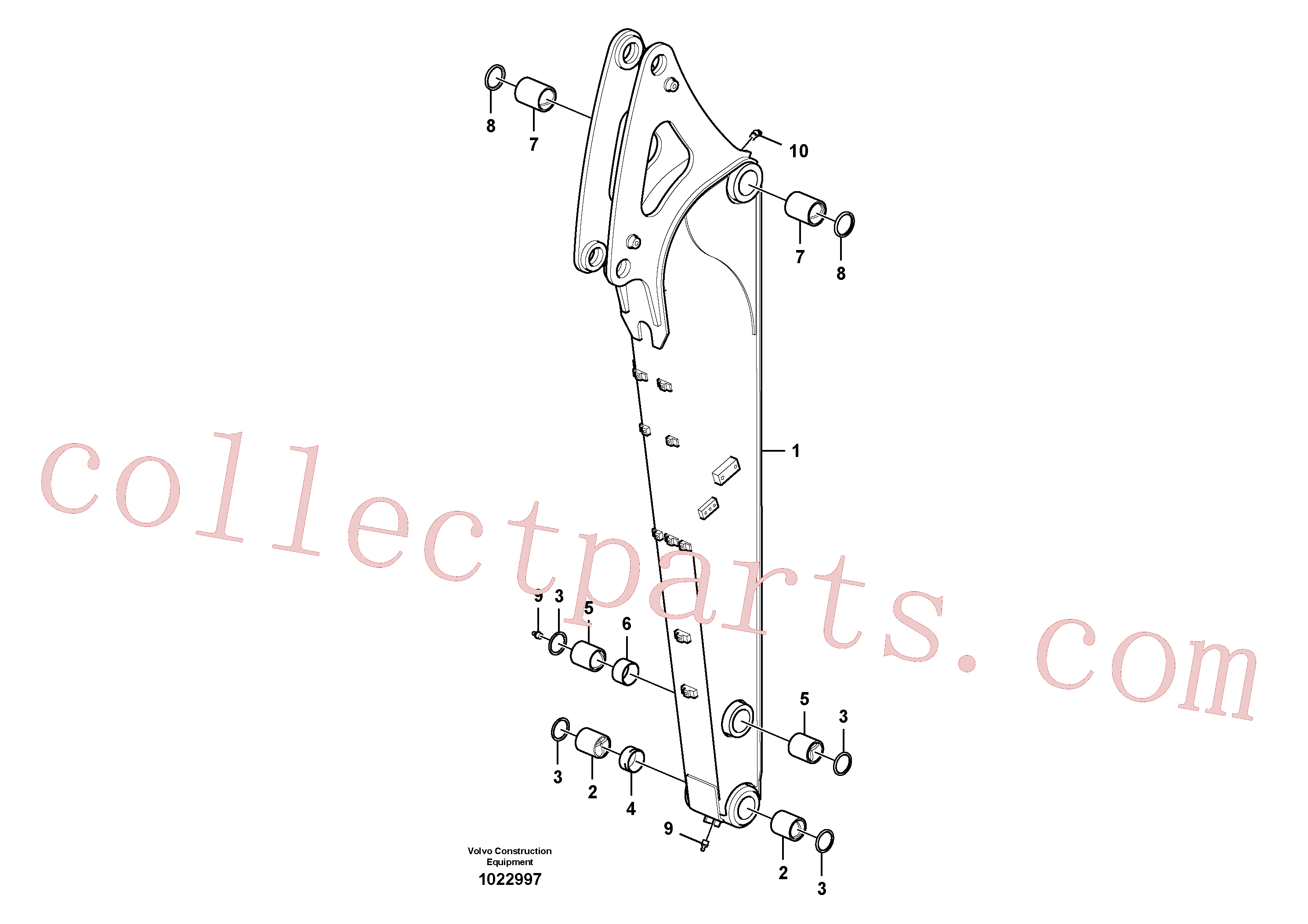 VOE14611891 for Volvo Dipper arm.(1022997 assembly)