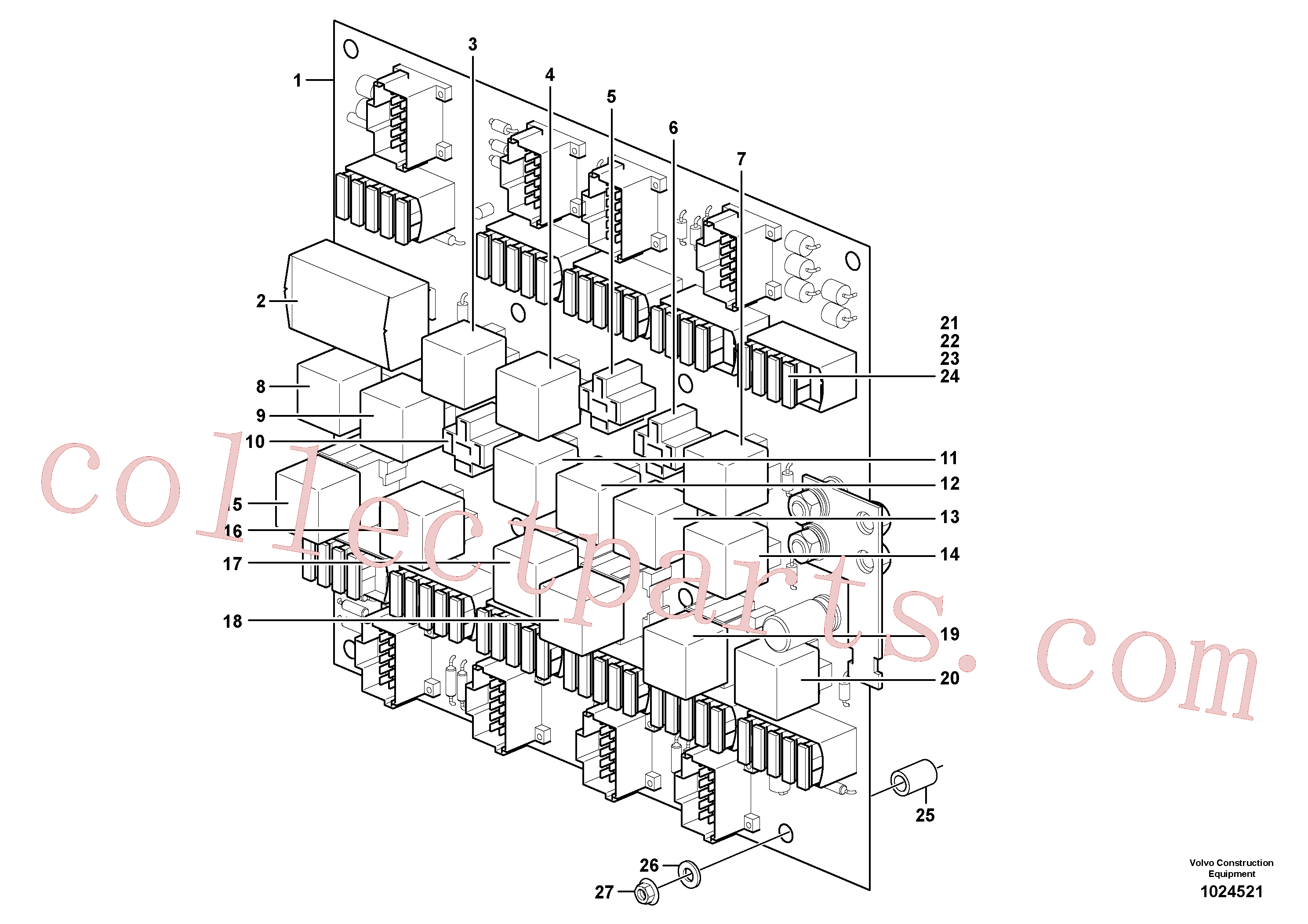 VOE969162 for Volvo Circuit board(1024521 assembly)
