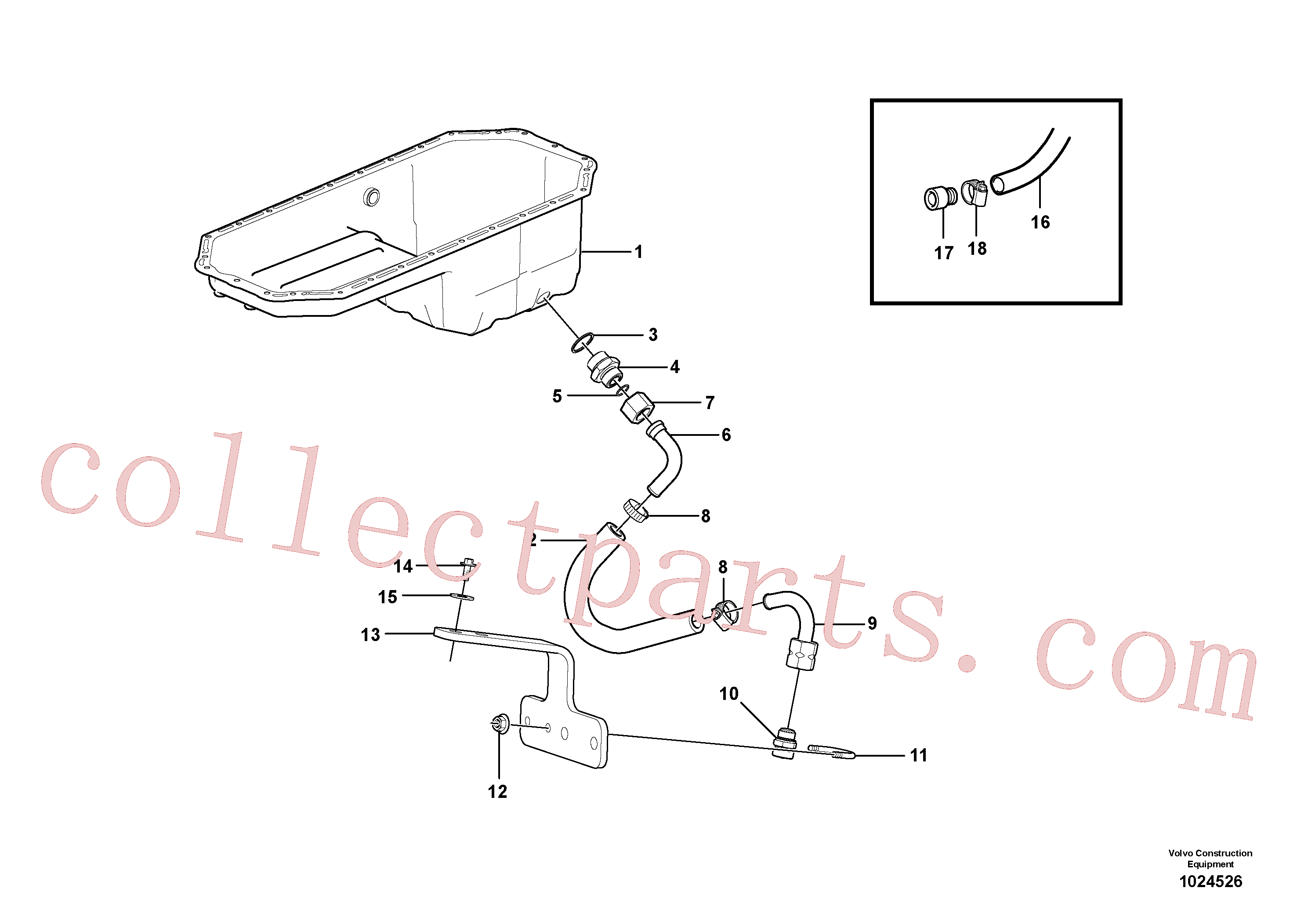 VOE192358 for Volvo Draining of oil sump(1024526 assembly)