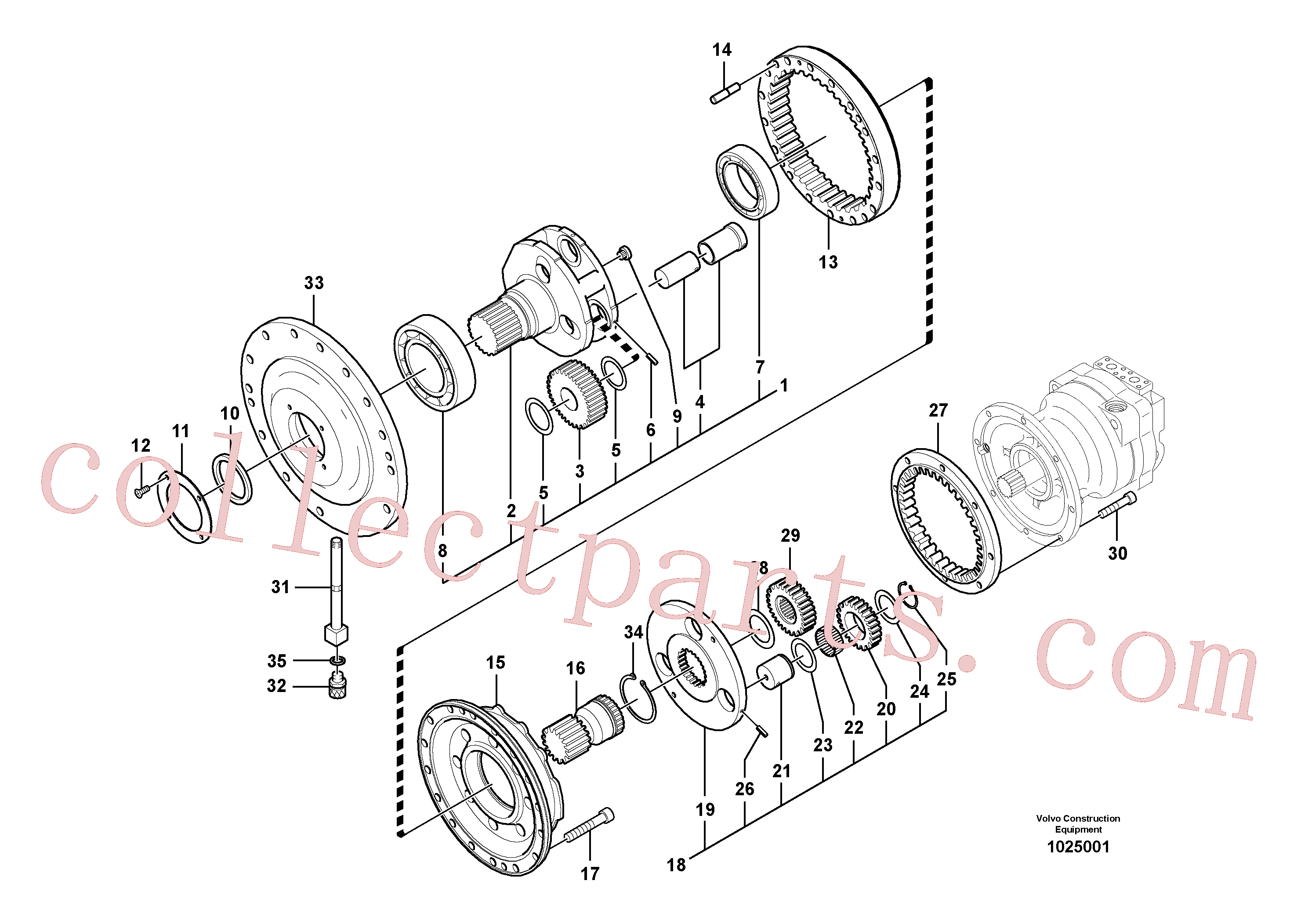 SA7114-12590 for Volvo Swing gearbox(1025001 assembly)