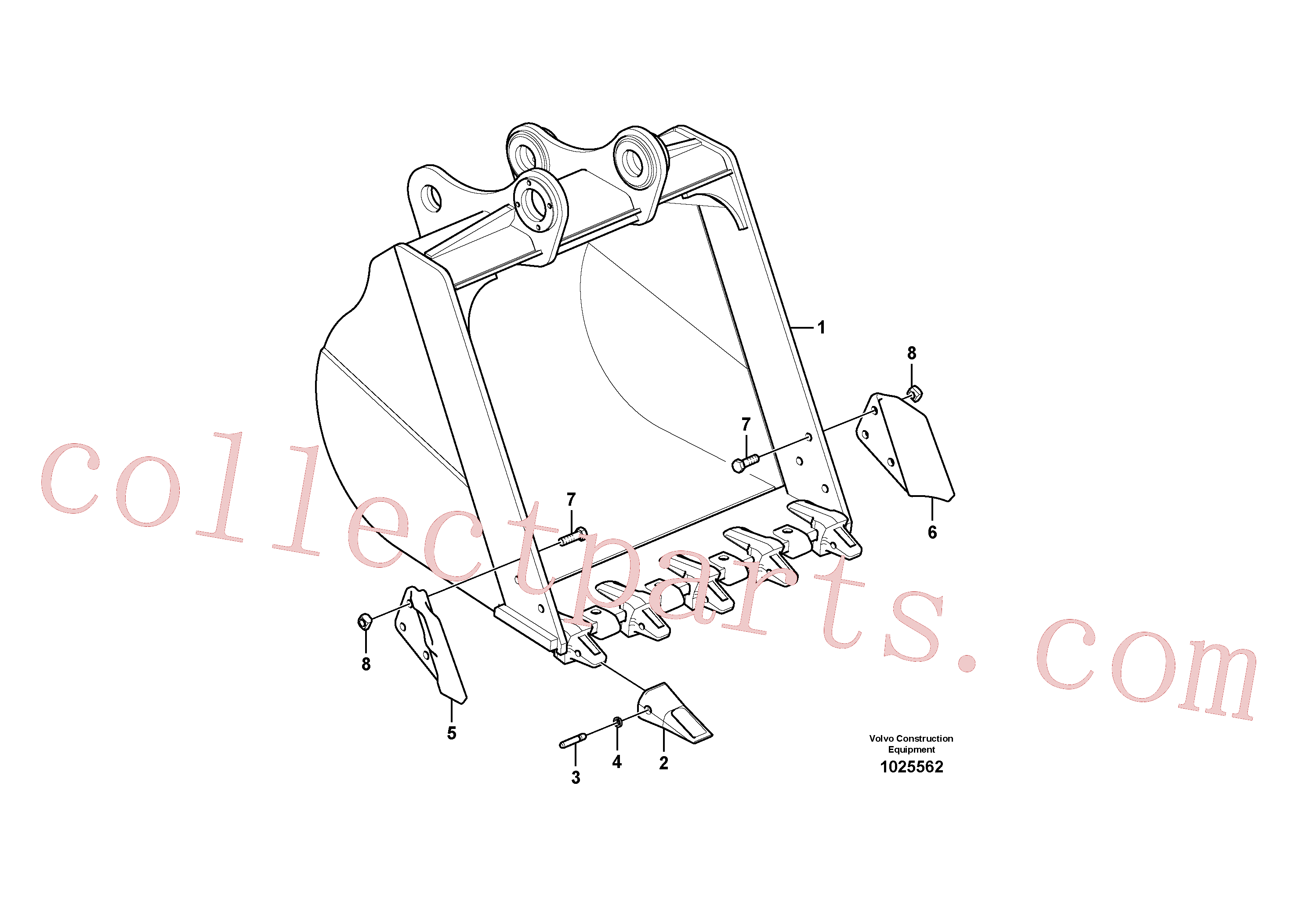 SA1171-00181 for Volvo Bucket(1025562 assembly)