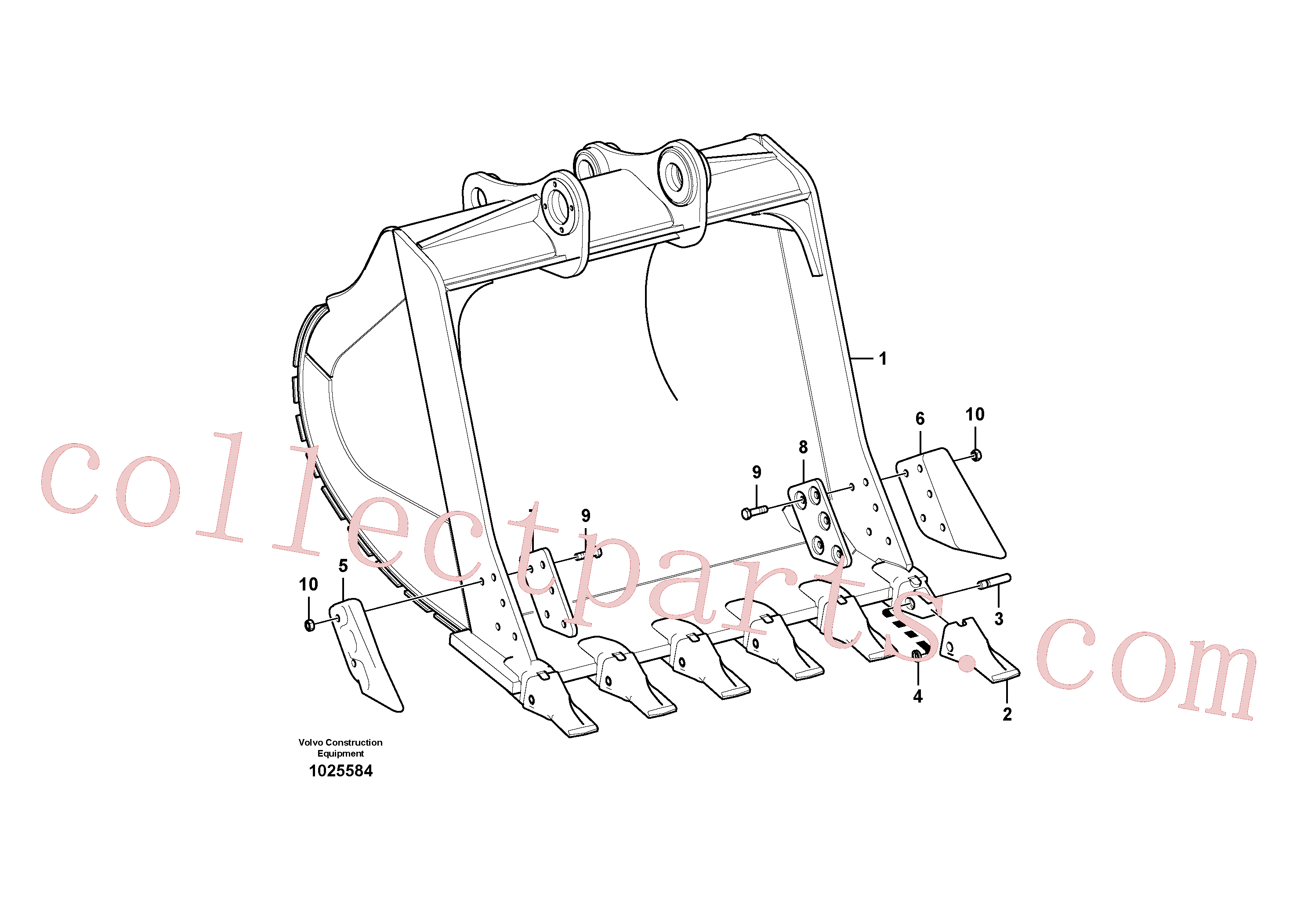 SA1171-00181 for Volvo Bucket(1025584 assembly)