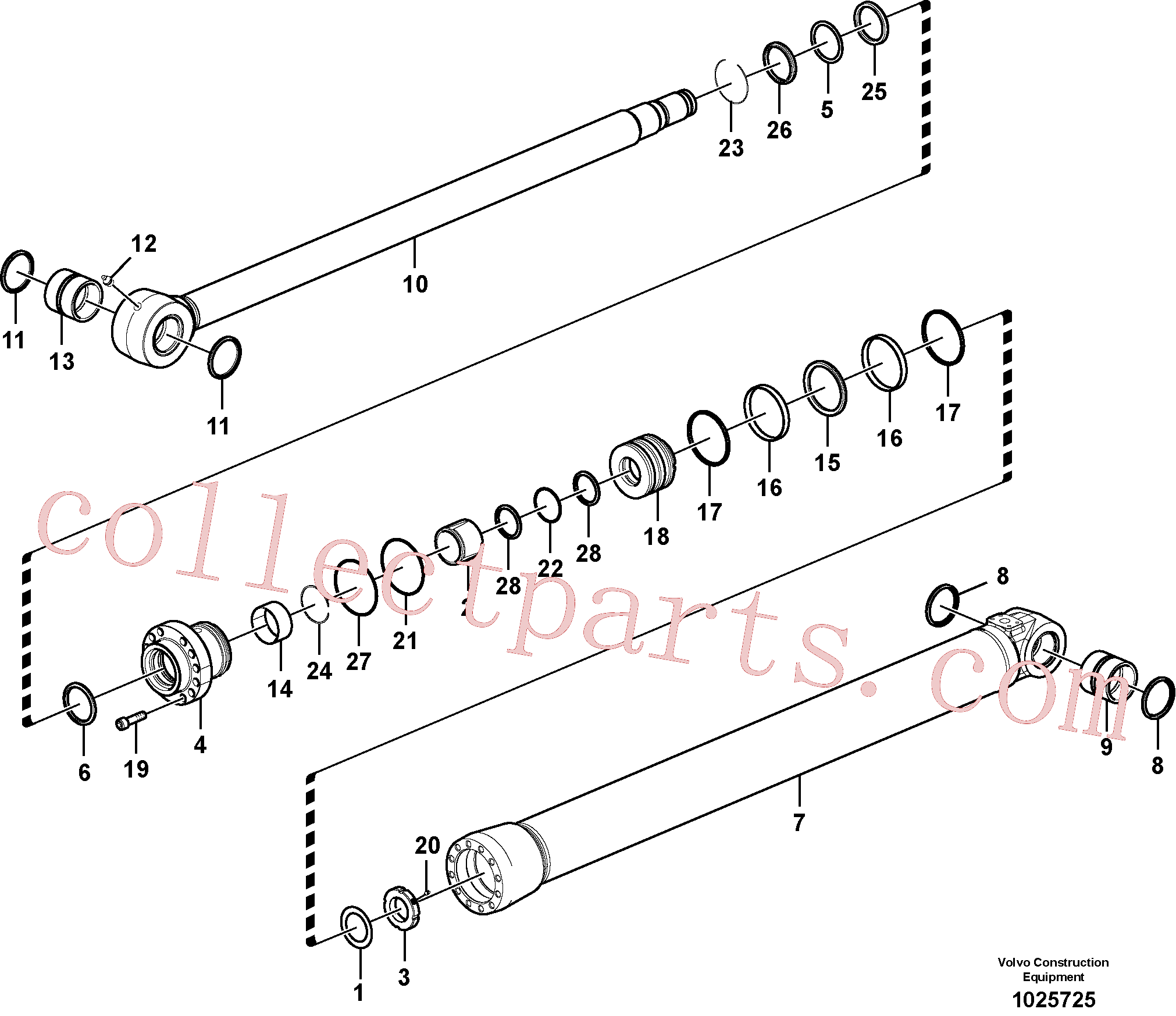 VOE14883743 for Volvo Bucket cylinder(1025725 assembly)