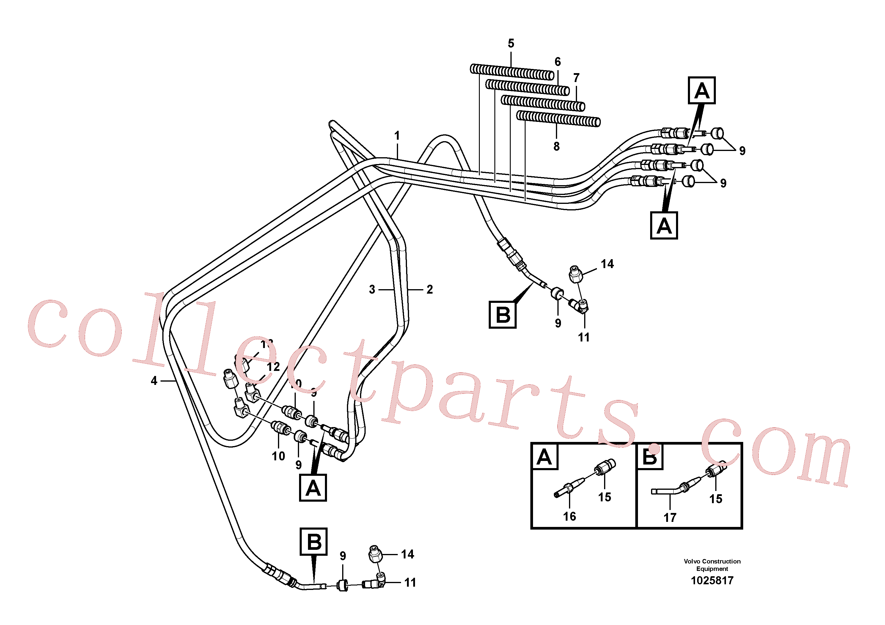 VOE14388450 for Volvo Automatic lubrication system, swing gear and boom cylinder(1025817 assembly)