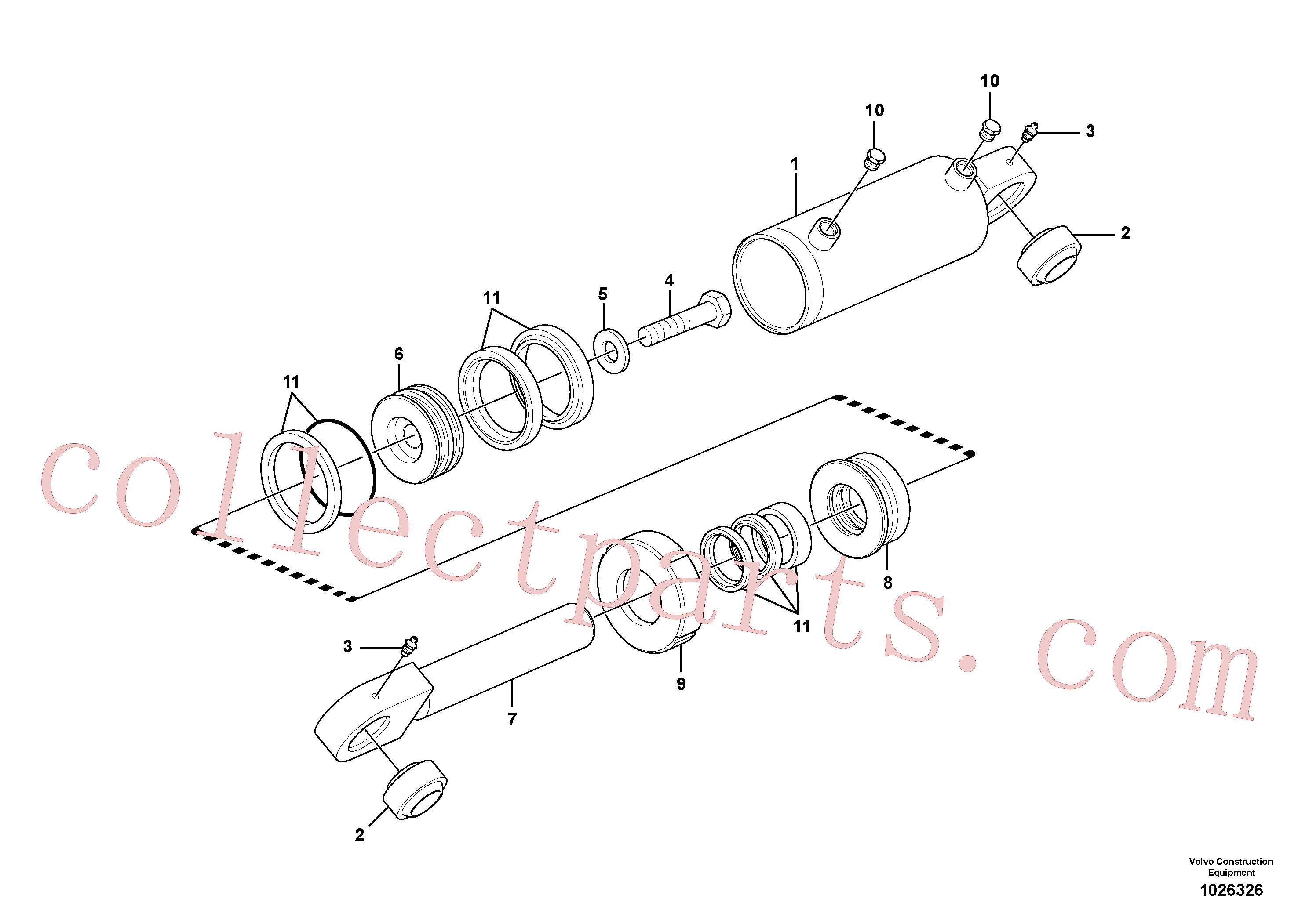 CH62147 for Volvo Wheel lean cylinders(1026326 assembly)