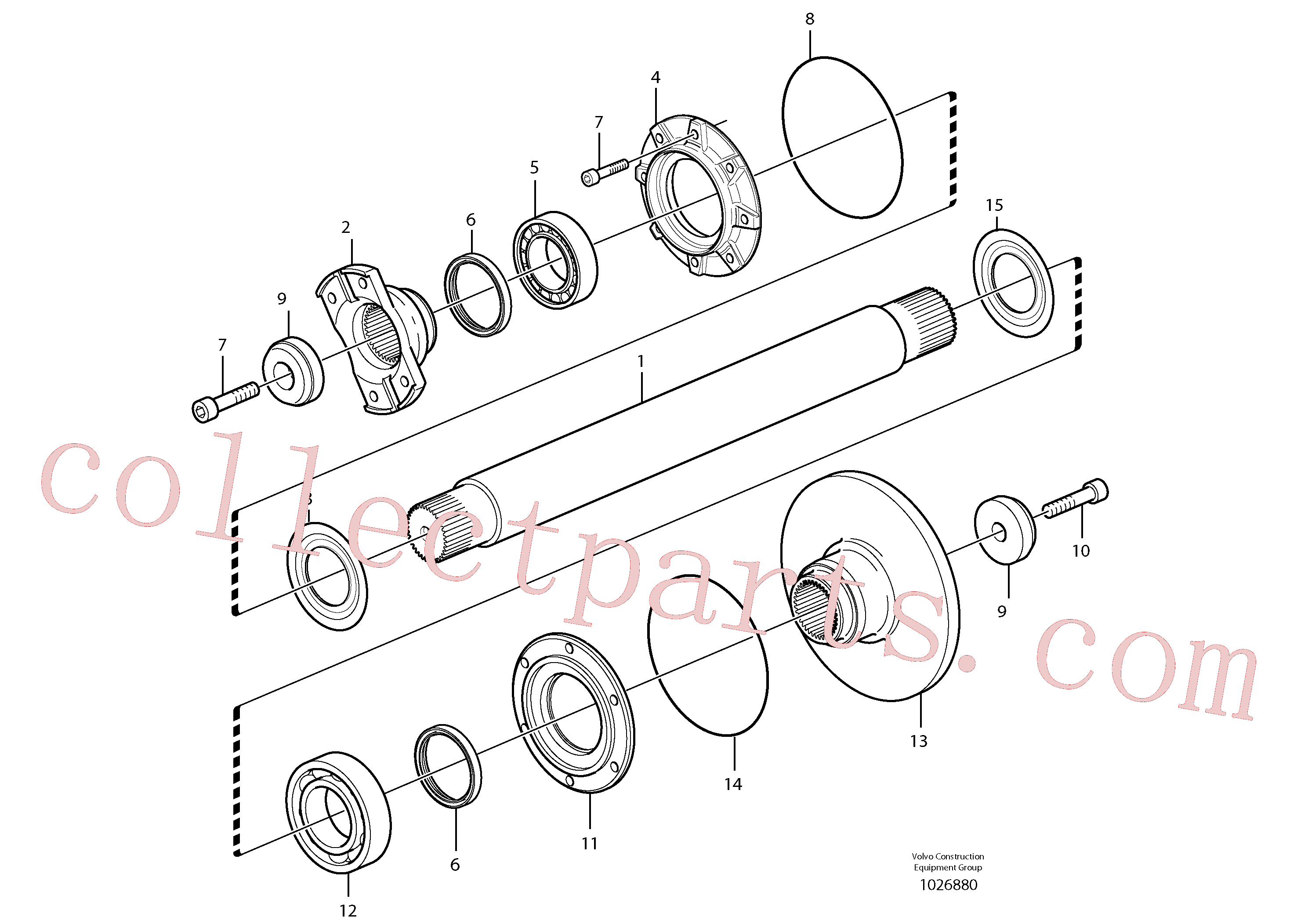VOE11194469 for Volvo Intermediate shaft(1026880 assembly)