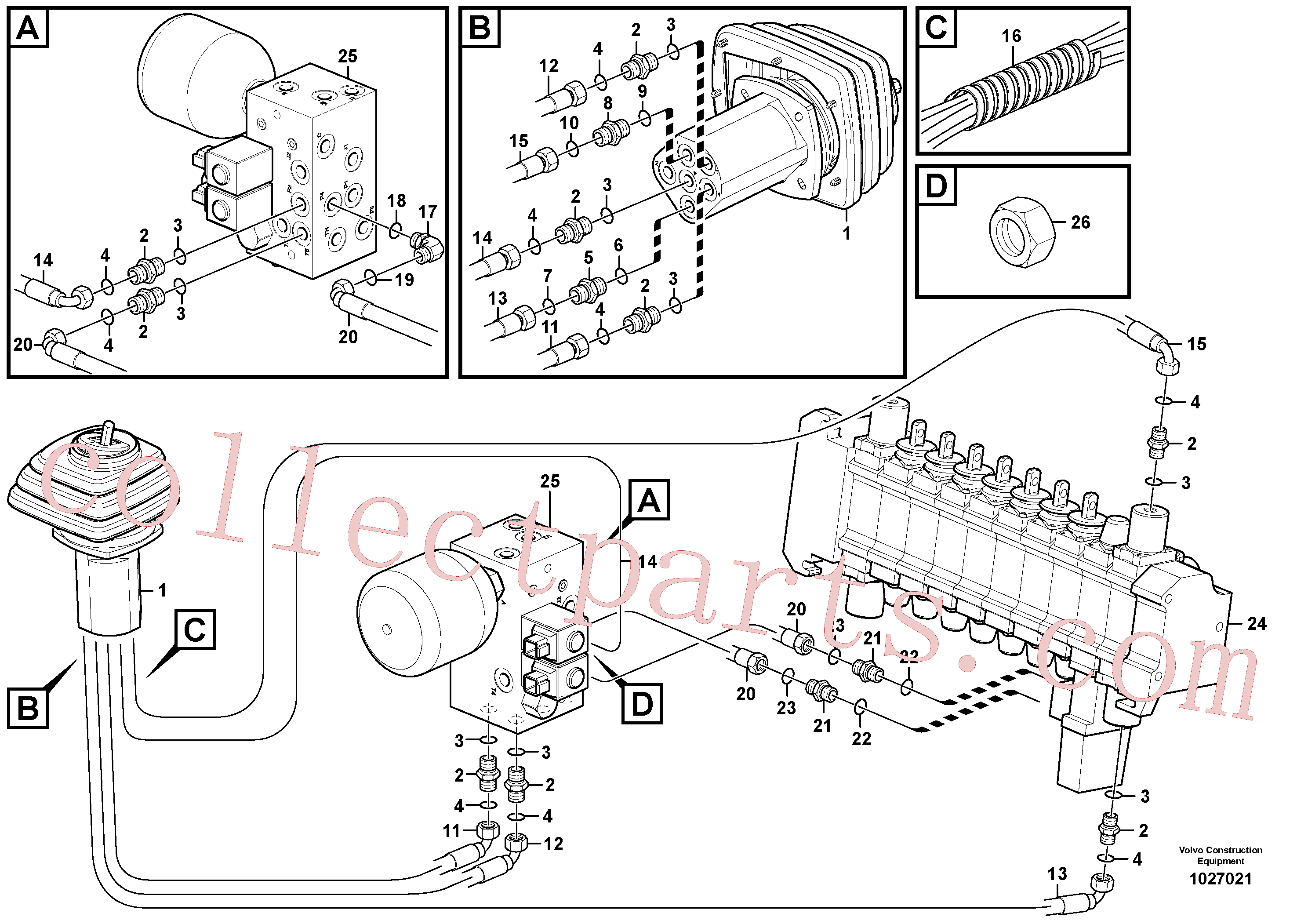 VOE14211855 for Volvo SE- Loader controls with safety accumulator(1027021 assembly)