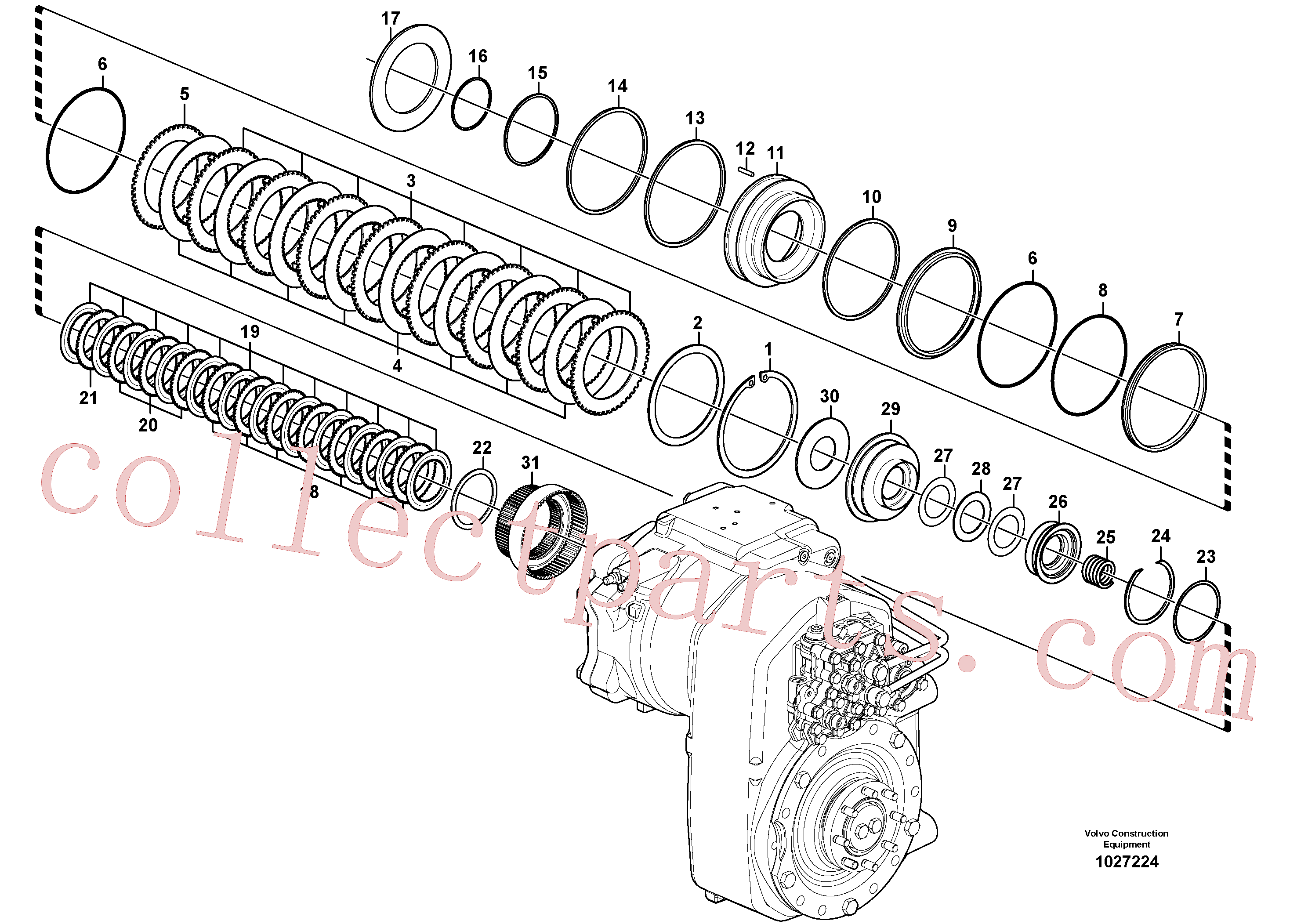 VOE14558037 for Volvo Transfer case, hydraulic coupling(1027224 assembly)