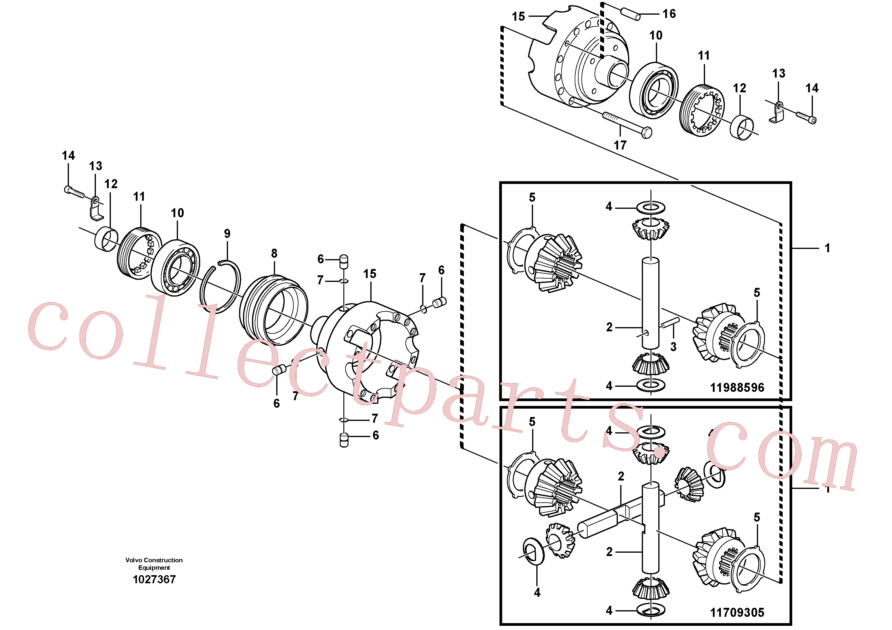 VOE11988601 for Volvo Differential. Rear(1027367 assembly)