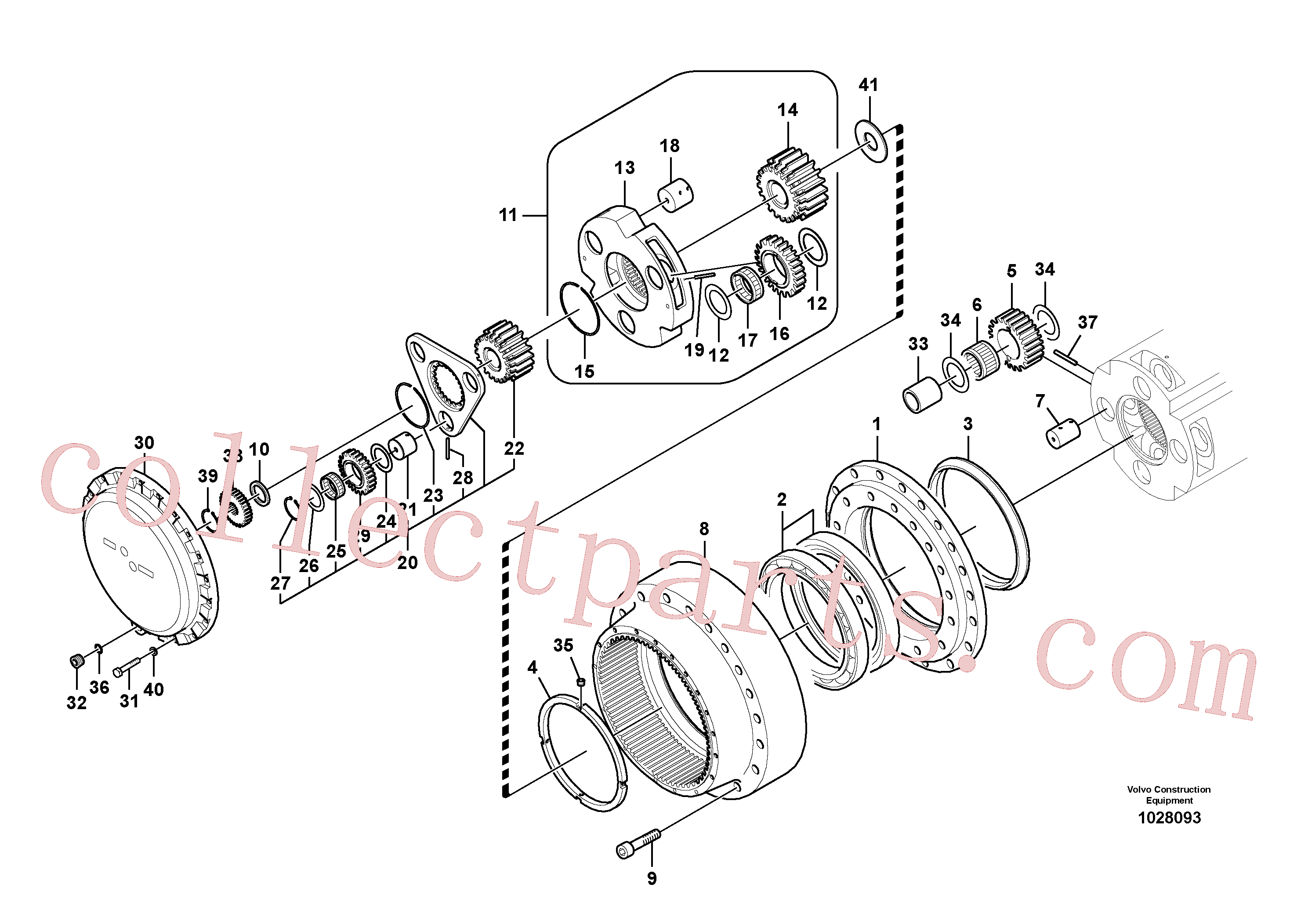 VOE14551151 for Volvo Travel gearbox(1028093 assembly)