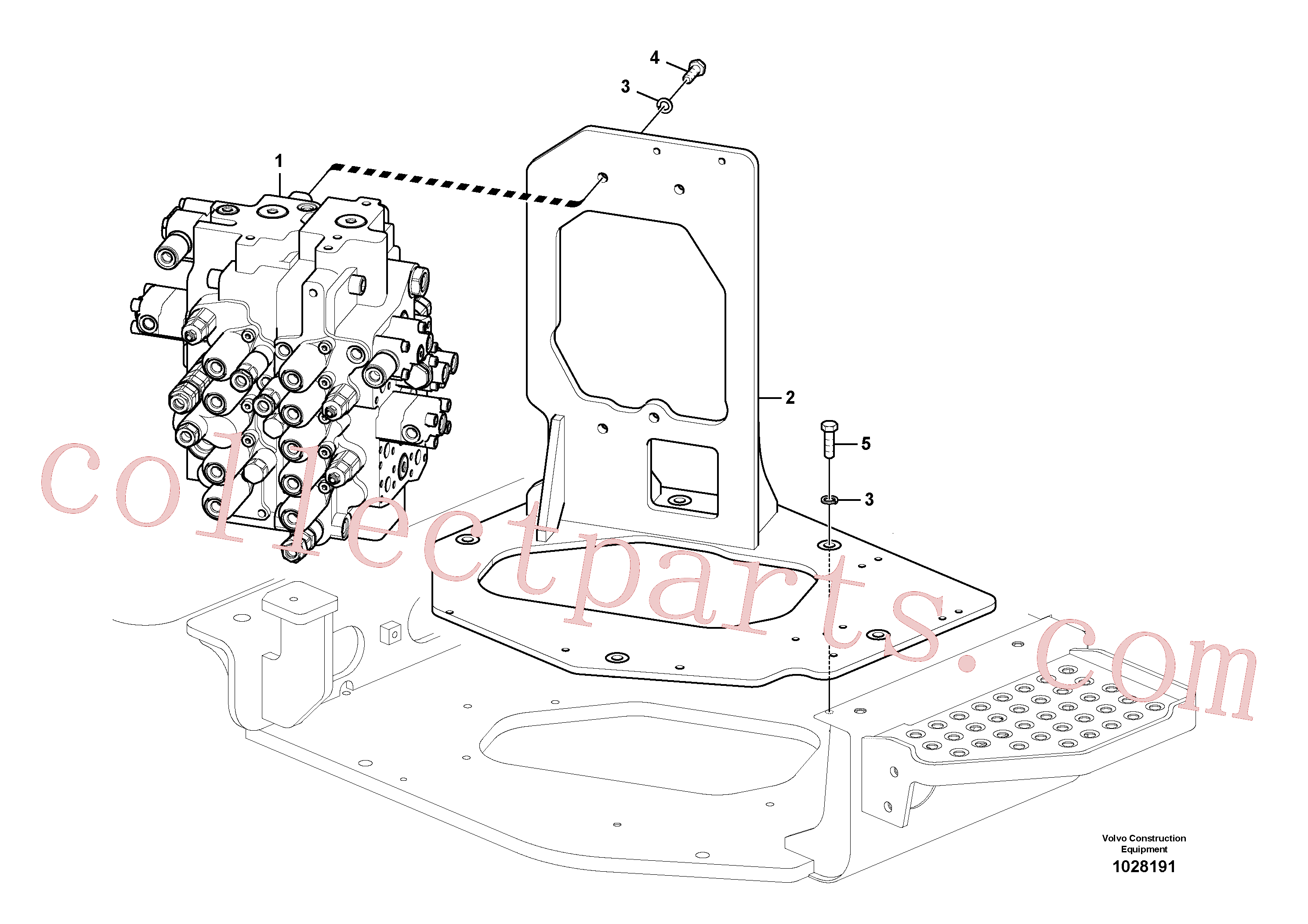 VOE993029 for Volvo Control valve with fitting parts.(1028191 assembly)