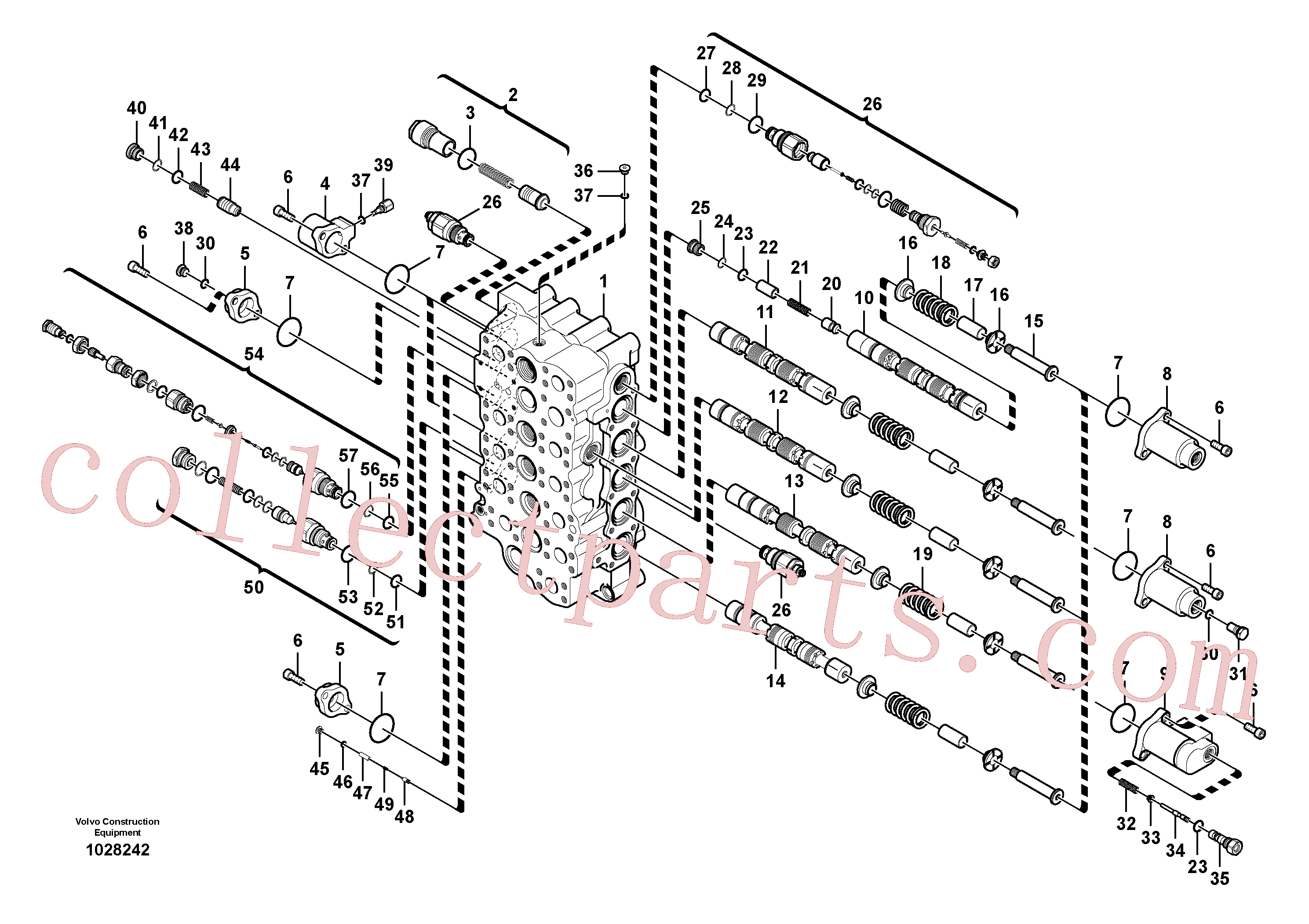 VOE14596229 for Volvo Main control valve(1028242 assembly)