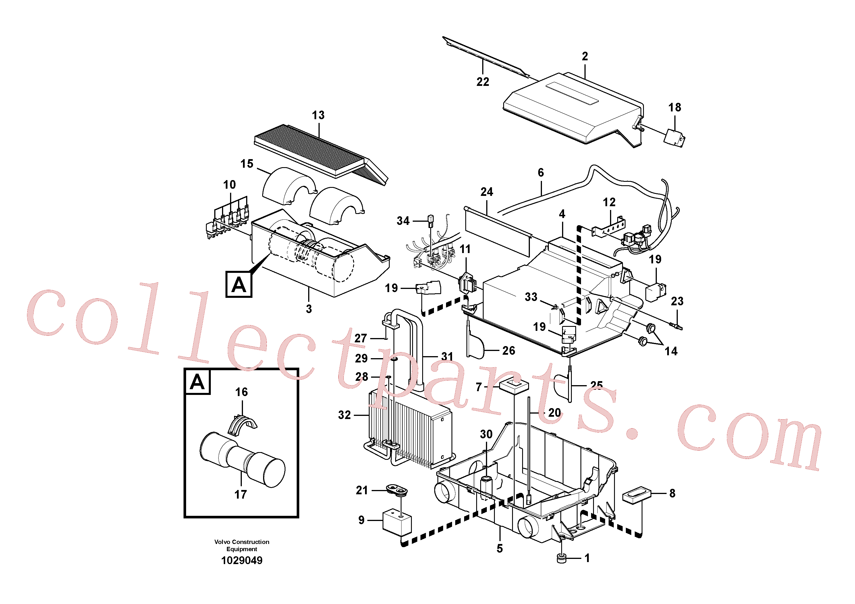 VOE14529132 for Volvo Cooling unit(1029049 assembly)